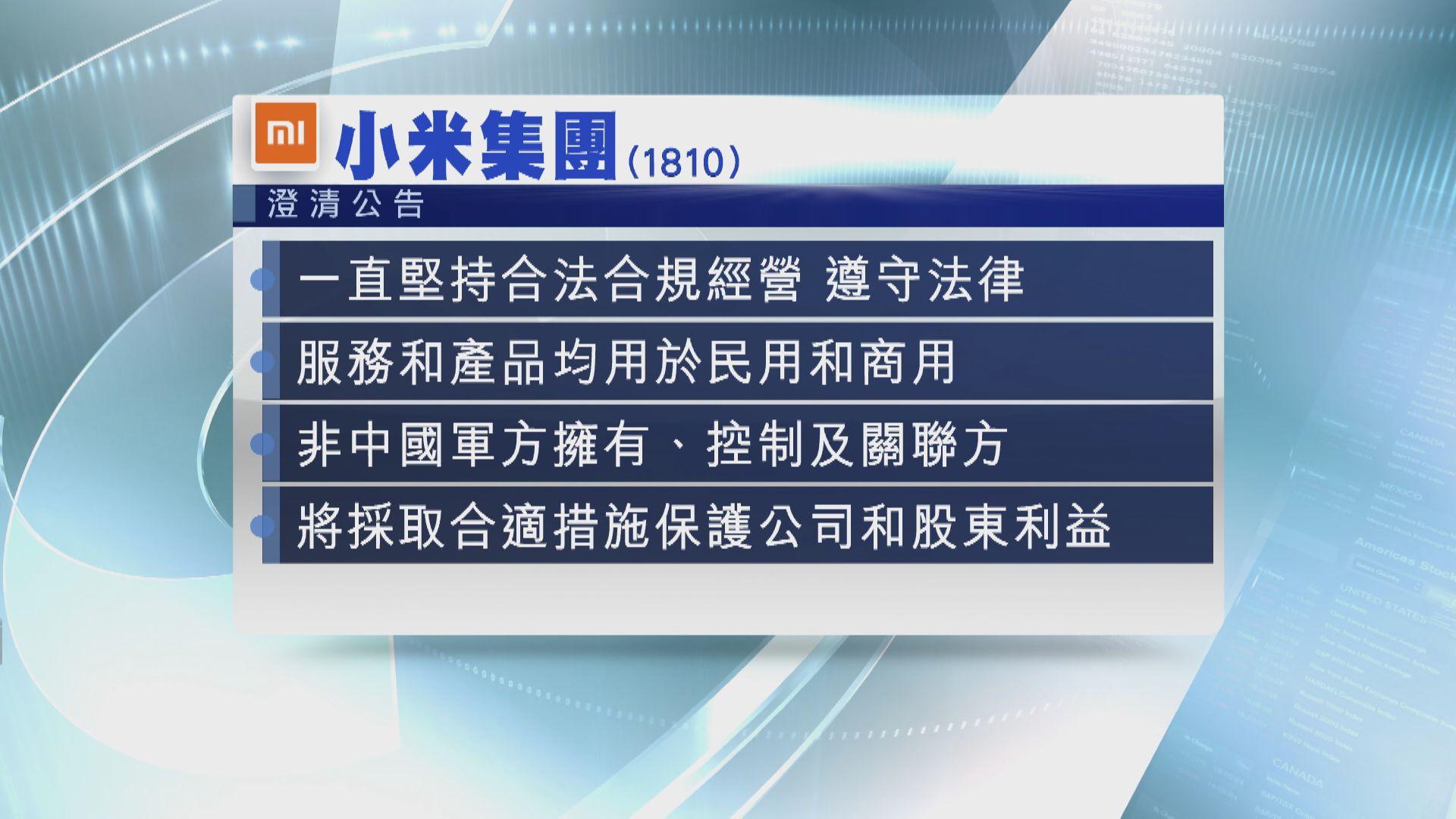 小米入美「禁投黑名單」 美資持股15%