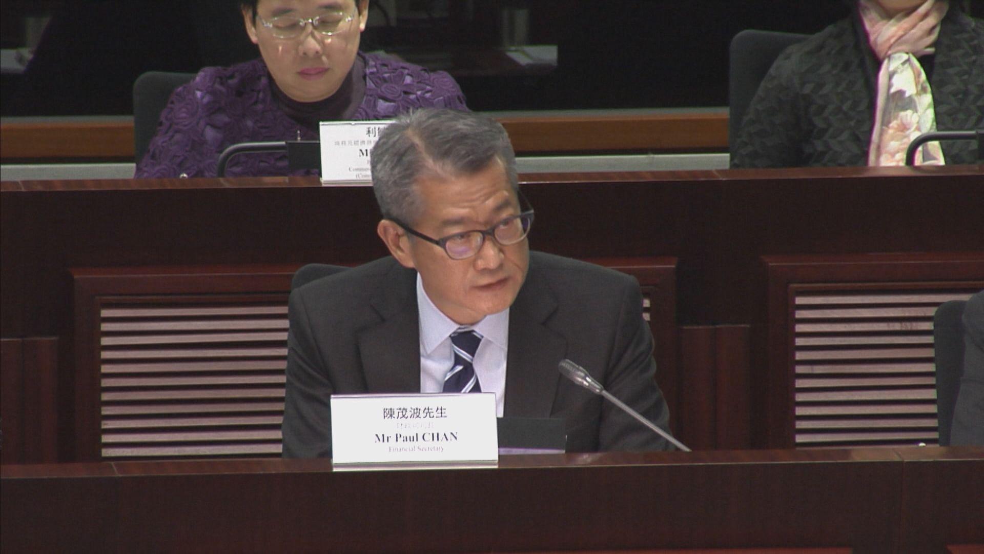 【人權法案】陳茂波:法案通過令營商環境添不確定性