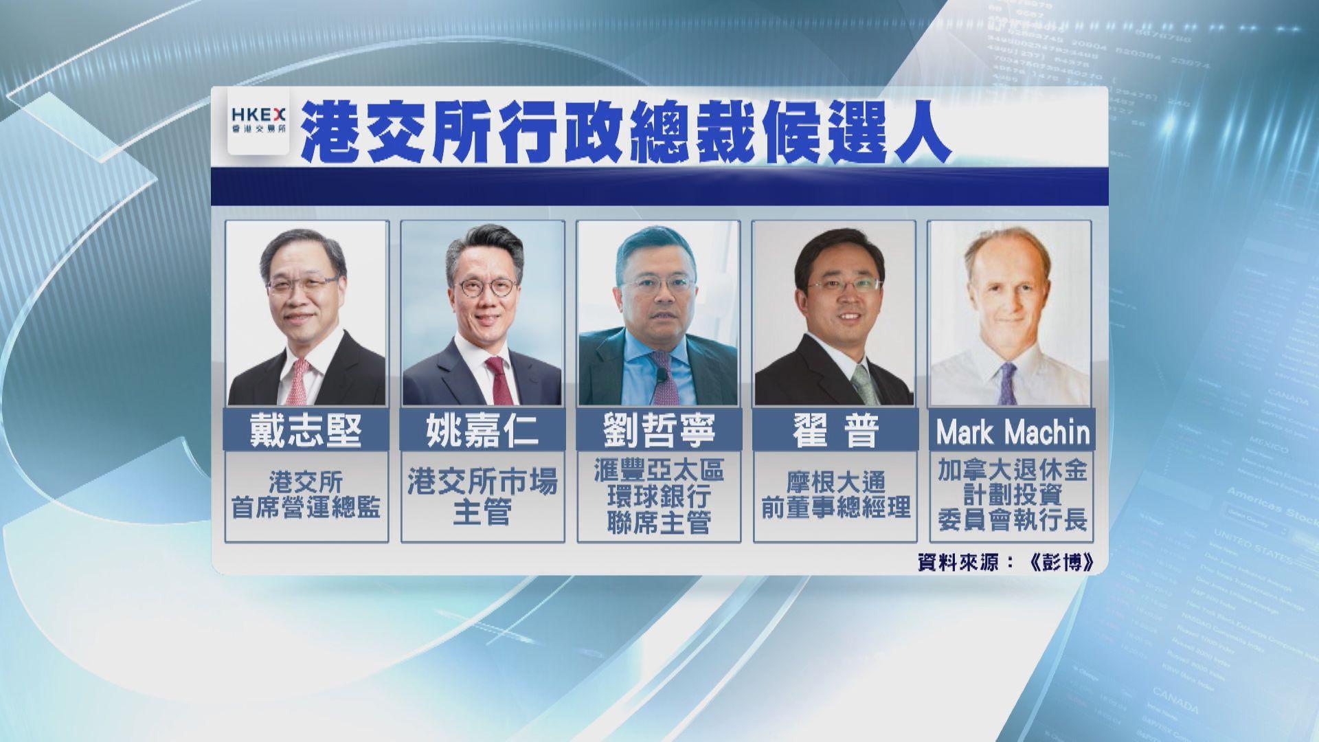 彭博:港交所CEO繼任人仍未有定案