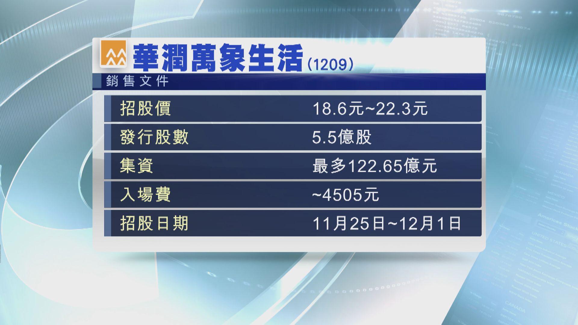 華潤萬象生活明招股 傳京東物流擬明年上市