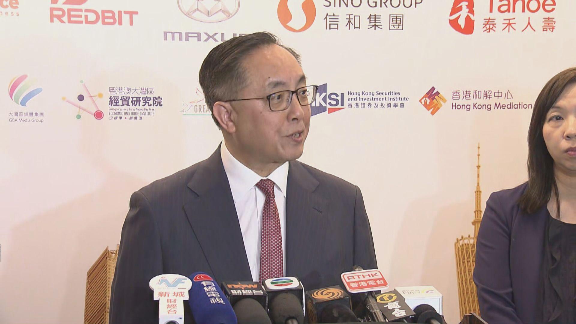 楊偉雄:數碼港作用明顯 會再投放資源