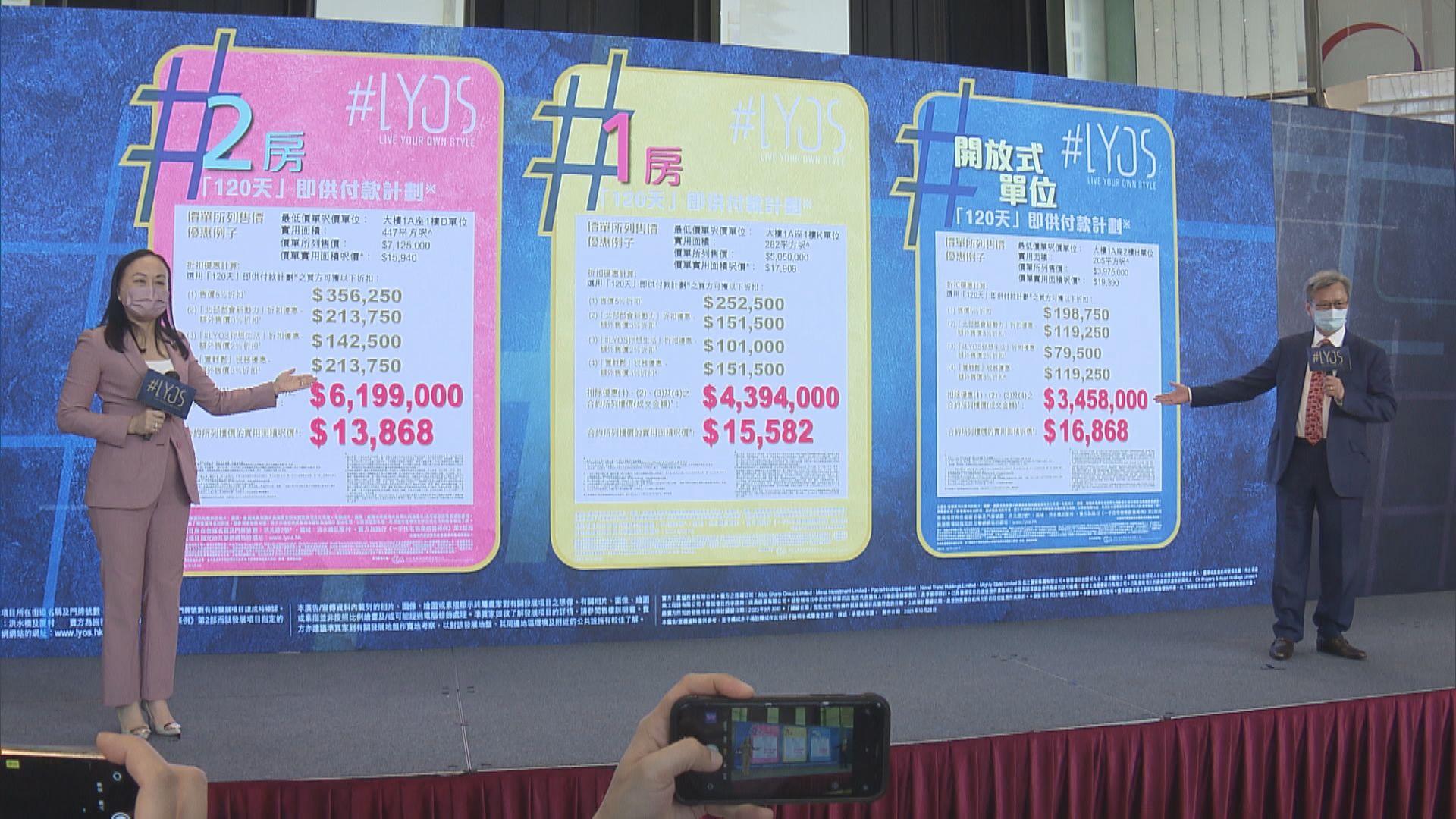 【洪水橋新盤】#LYO首批88伙 最平開放式賣346萬