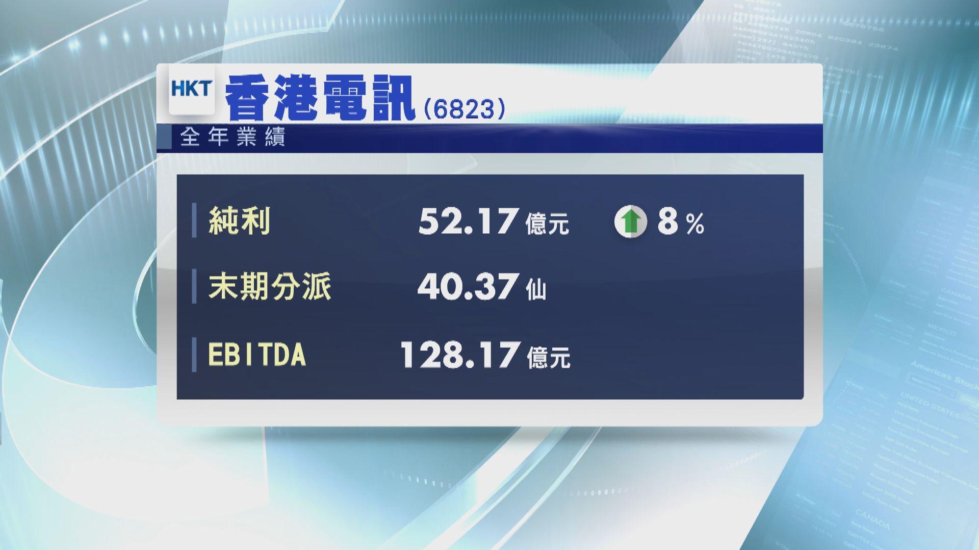 【業績速報】香港電訊去年多賺8% 息40.37仙