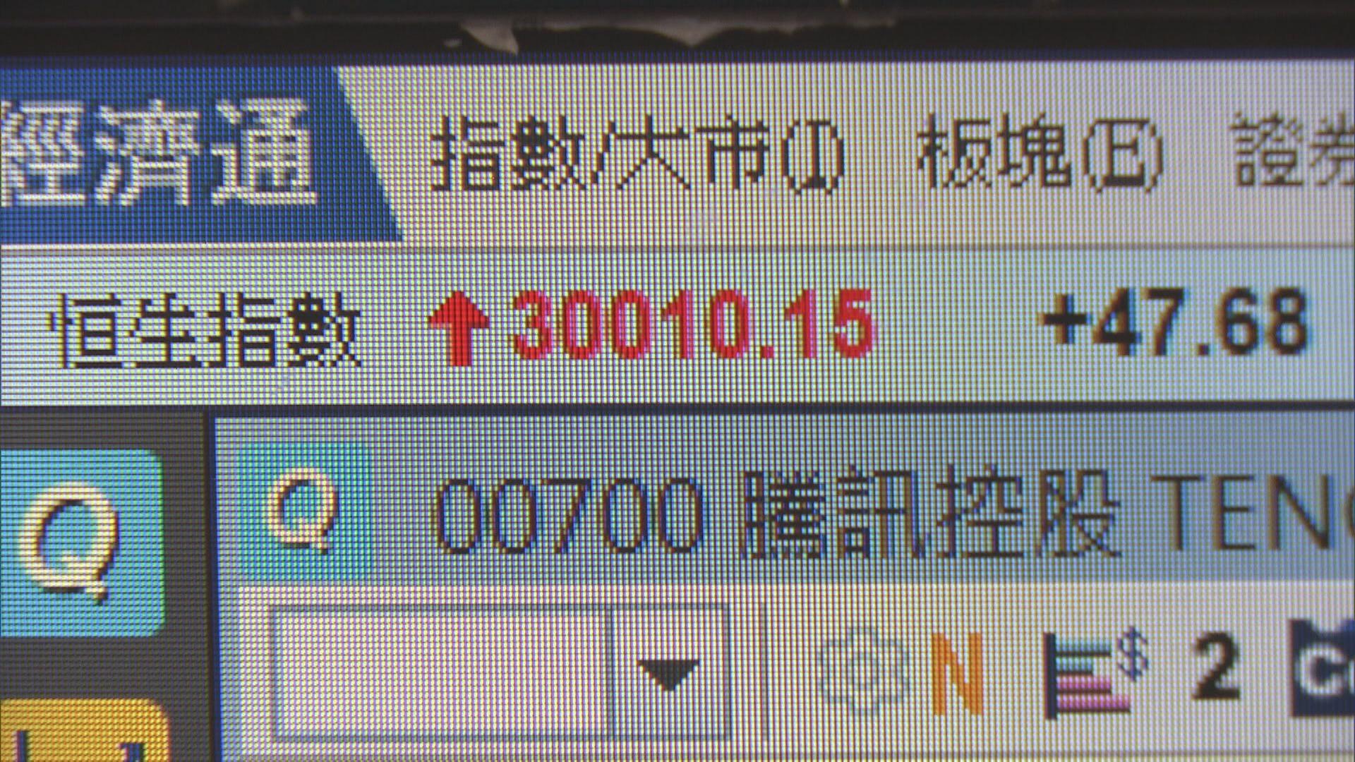港股衝破30000關  散戶沽貨「賺咗先」