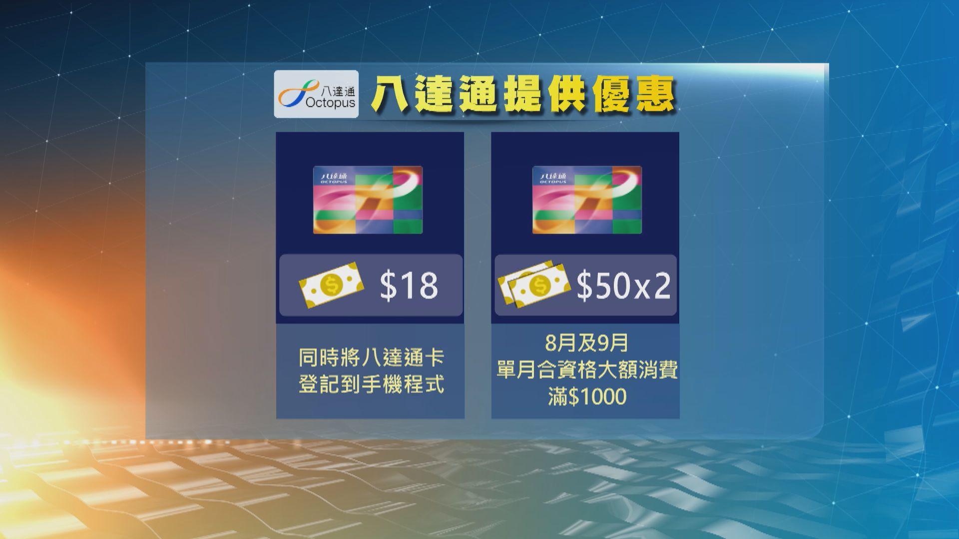 八達通支付寶公布優惠 預早登記消費券可獲額外儲值額
