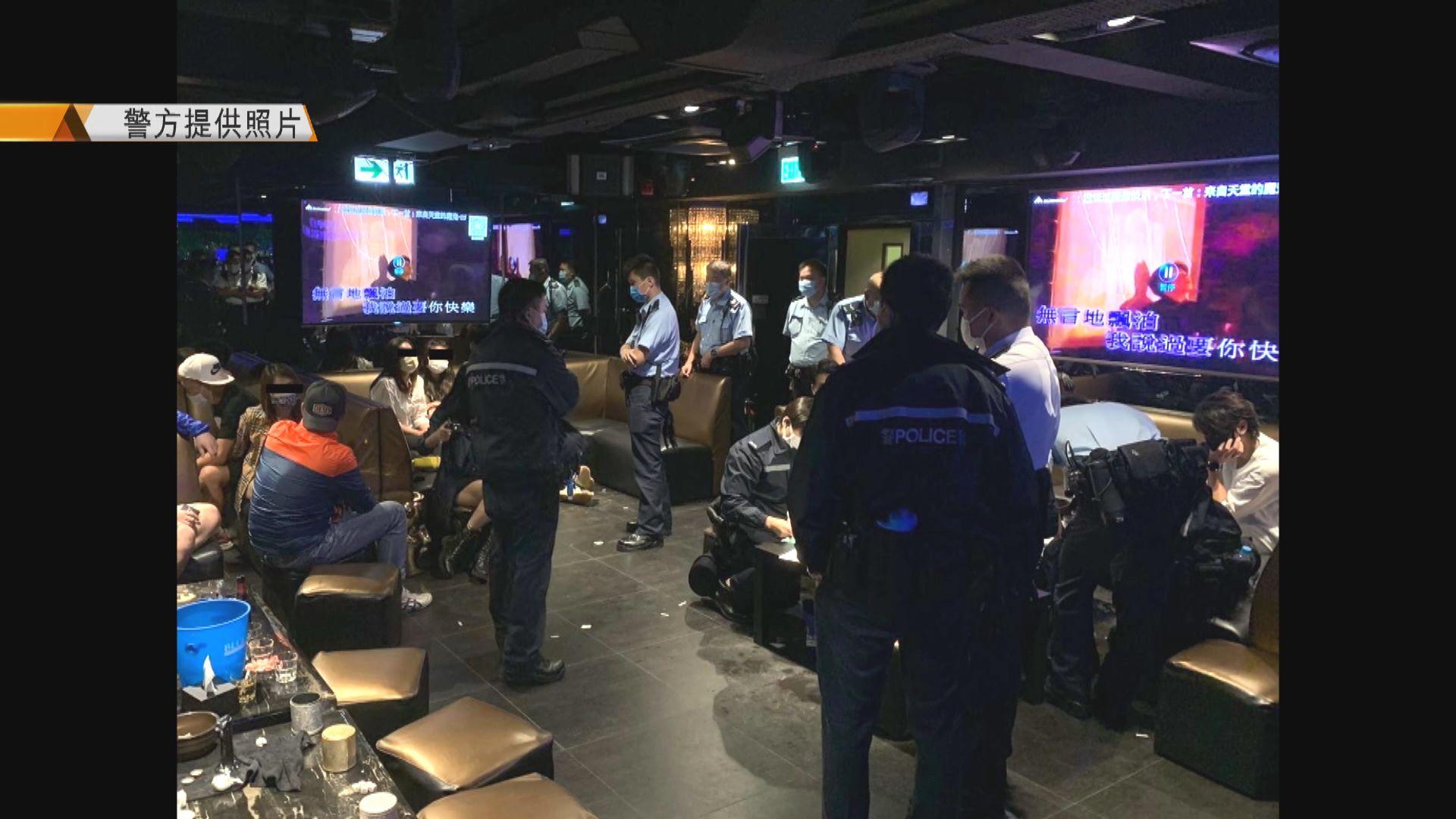 警方巡查灣仔酒吧 42人涉違限聚遭票控