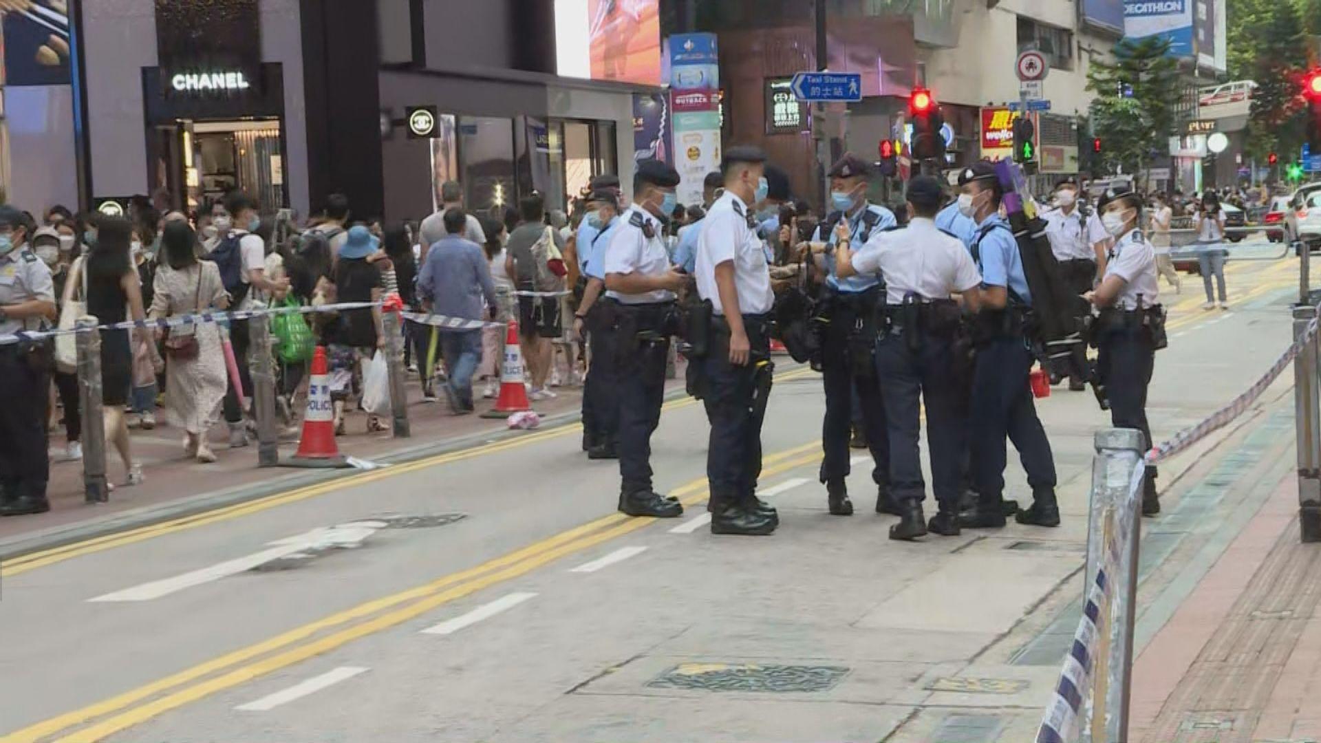【612兩周年】網上有人號召銅鑼灣聚集 警加強巡邏