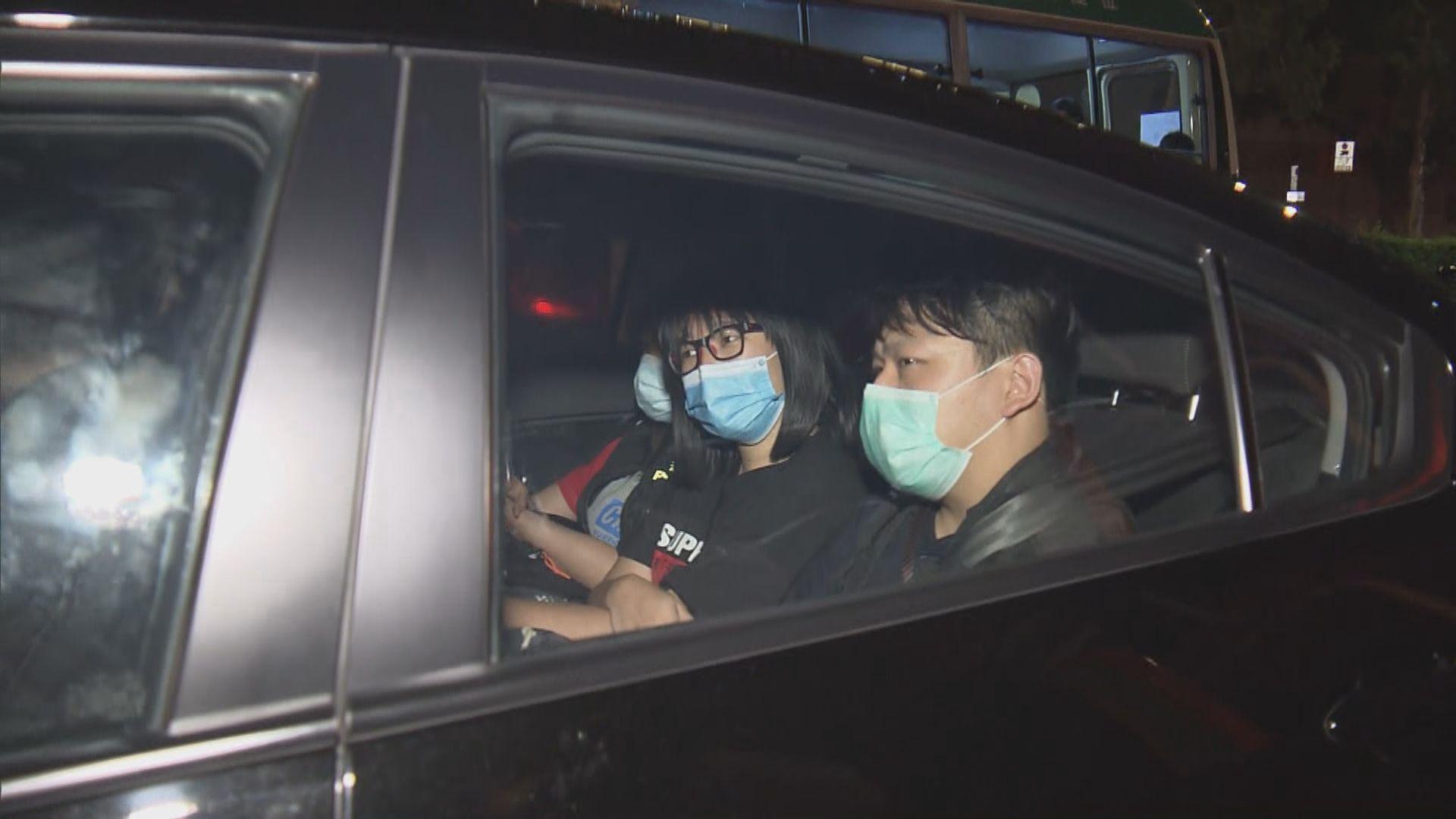 鄒幸彤涉宣傳六四集會被捕 夜晚被送往荃灣警署