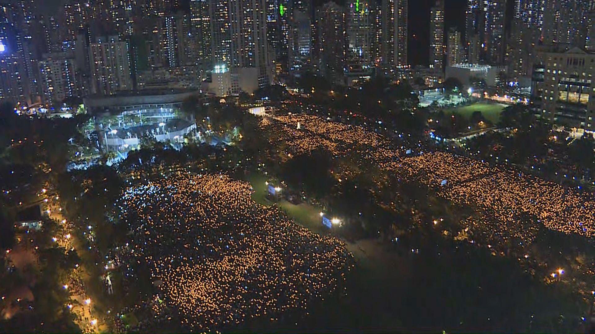 【六四晚會】支聯會稱逾18萬人參與晚會