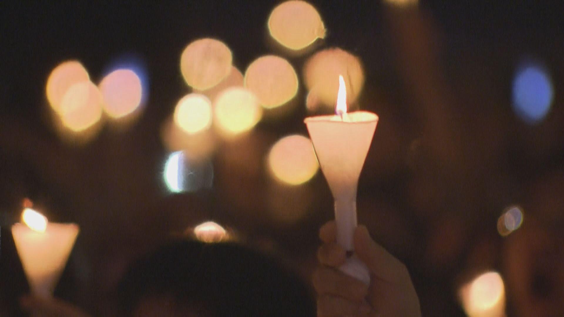 六四三十周年維園舉行燭光悼念集會