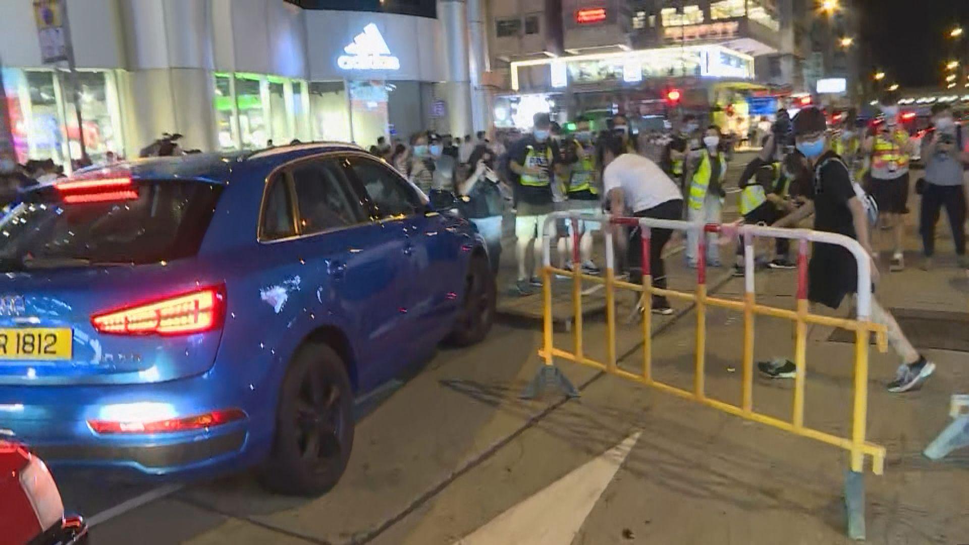 旺角有人堵路 警拘捕至少四人