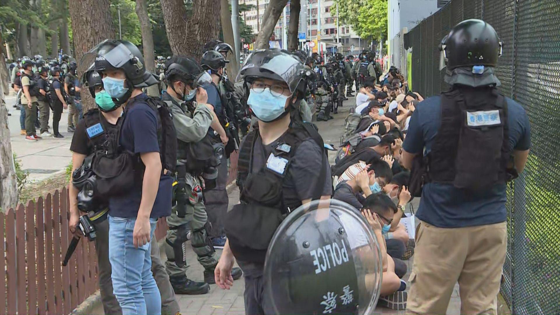 警方銅鑼灣一帶拘捕180人 當中7人涉違港區國安法