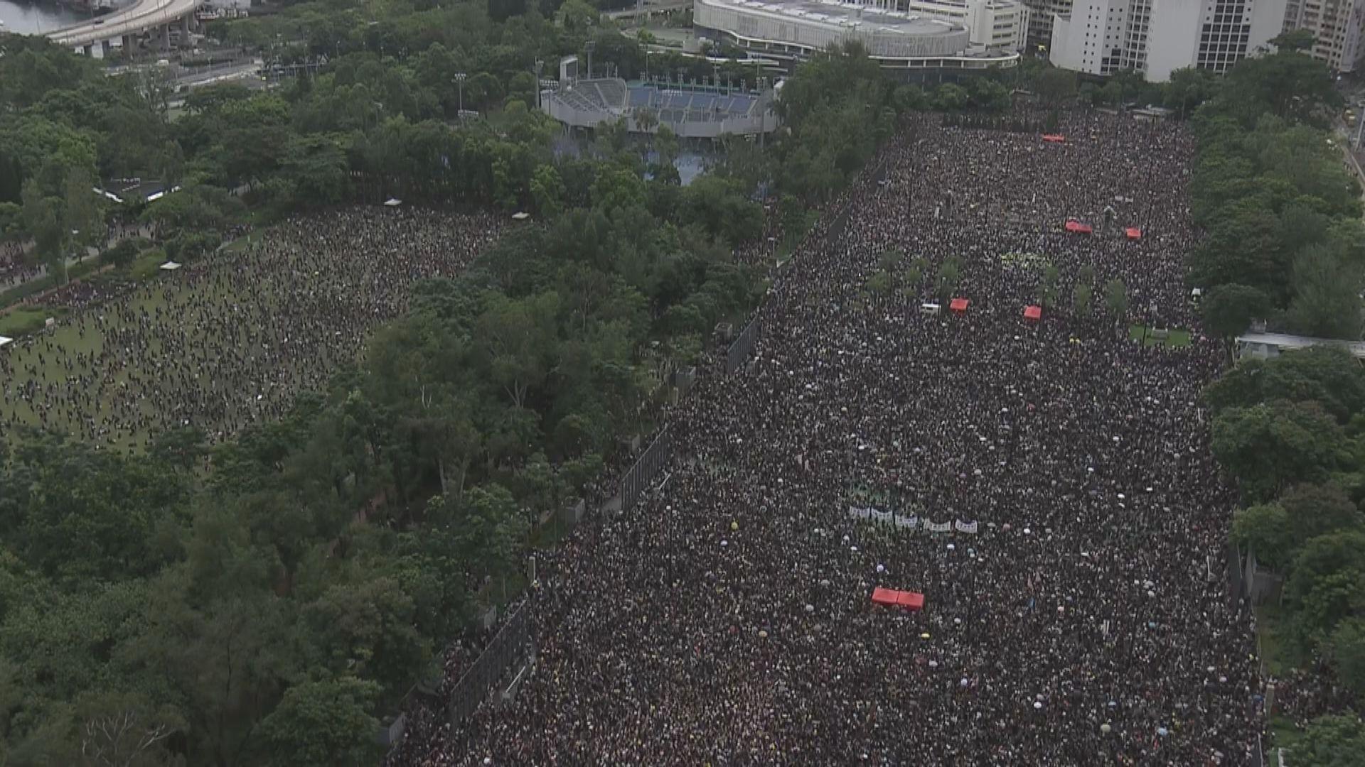 民陣:逾170萬人在維園天后一帶參與集會