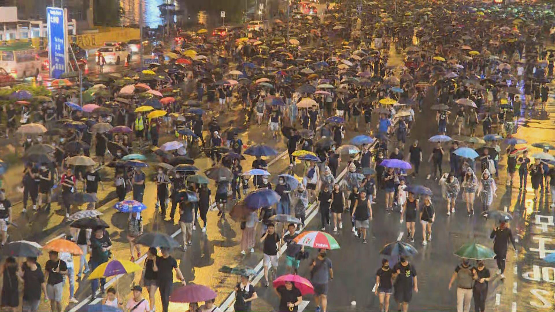 【民陣集會】市民指以和平方式表達意見促政府回應五大訴求