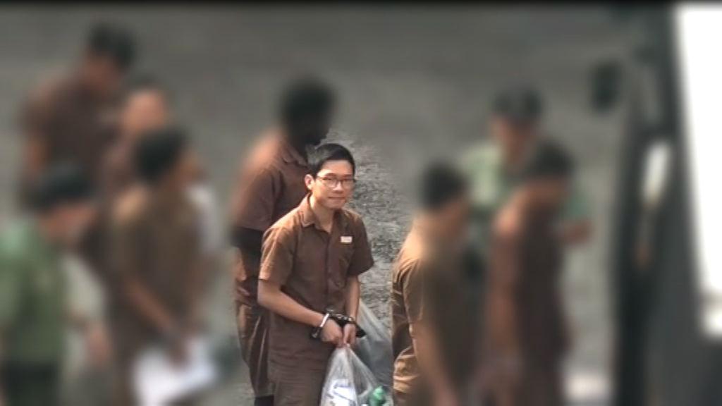 羅冠聰由囚車移送至其他監獄服刑