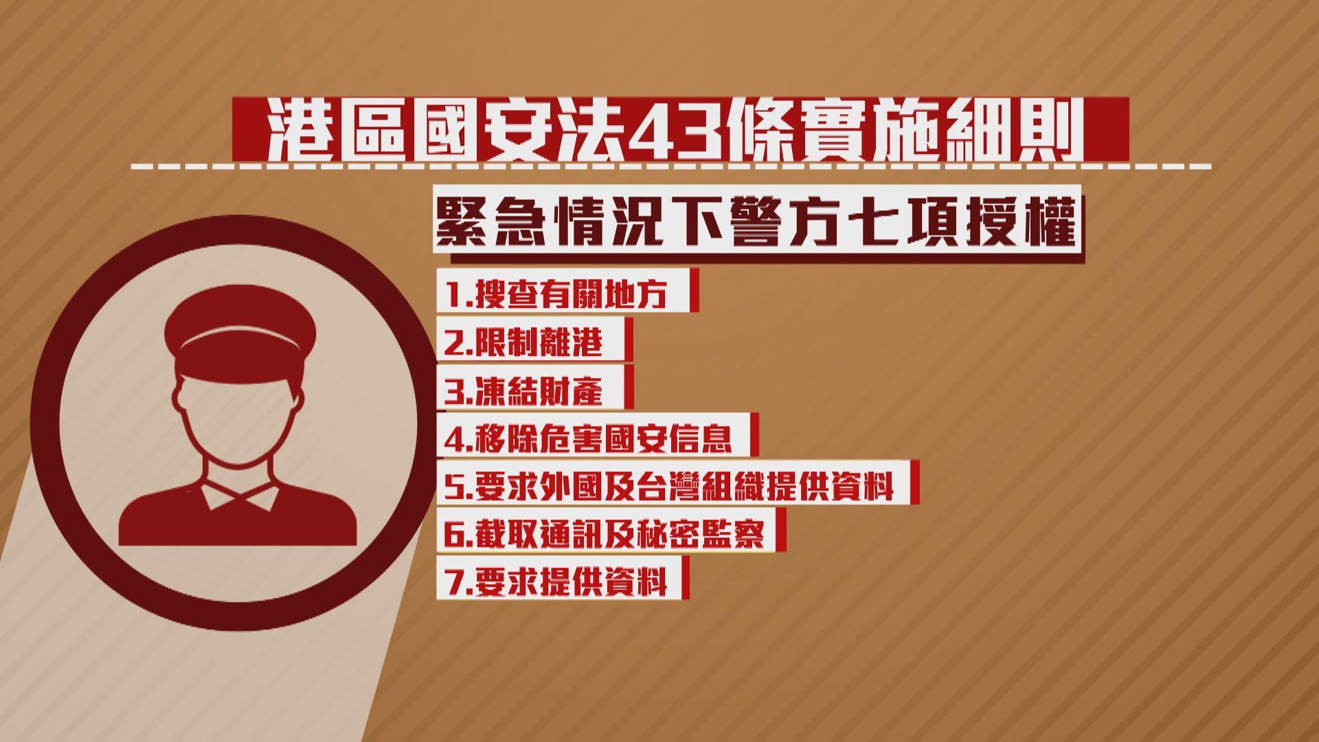 【透析國安法】第43條實施細則—手令、充公財產