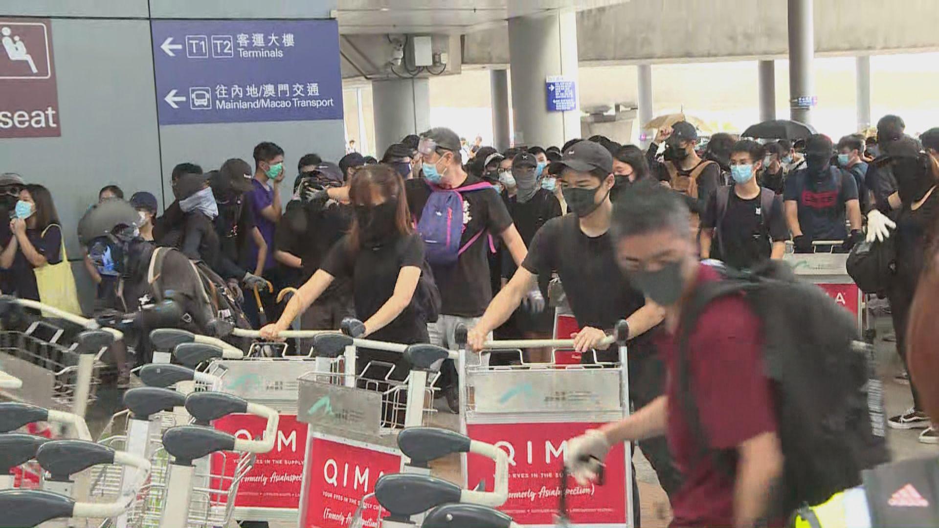 機管局報章發聲明籲示威者勿阻礙旅客