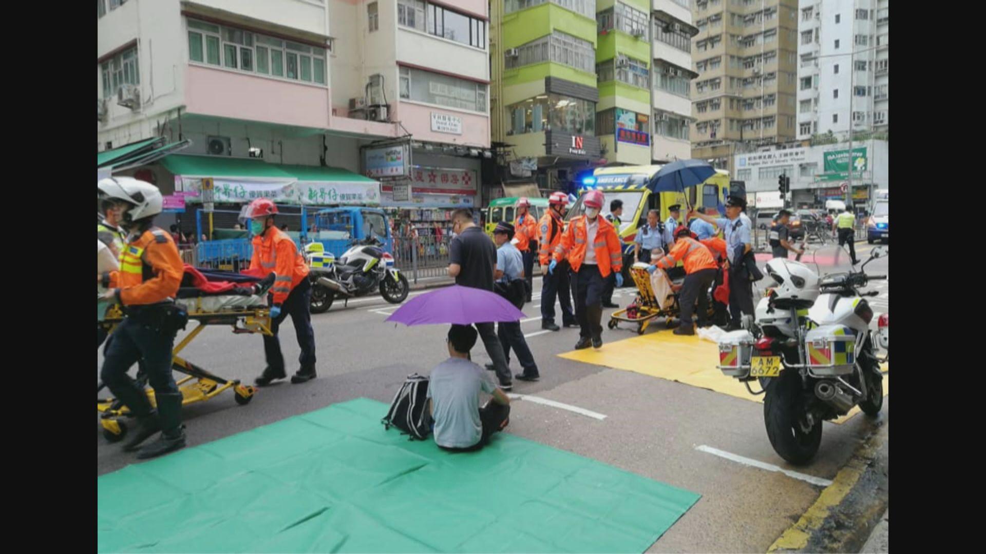 香港仔大道有的士剷上行人路最少九人傷