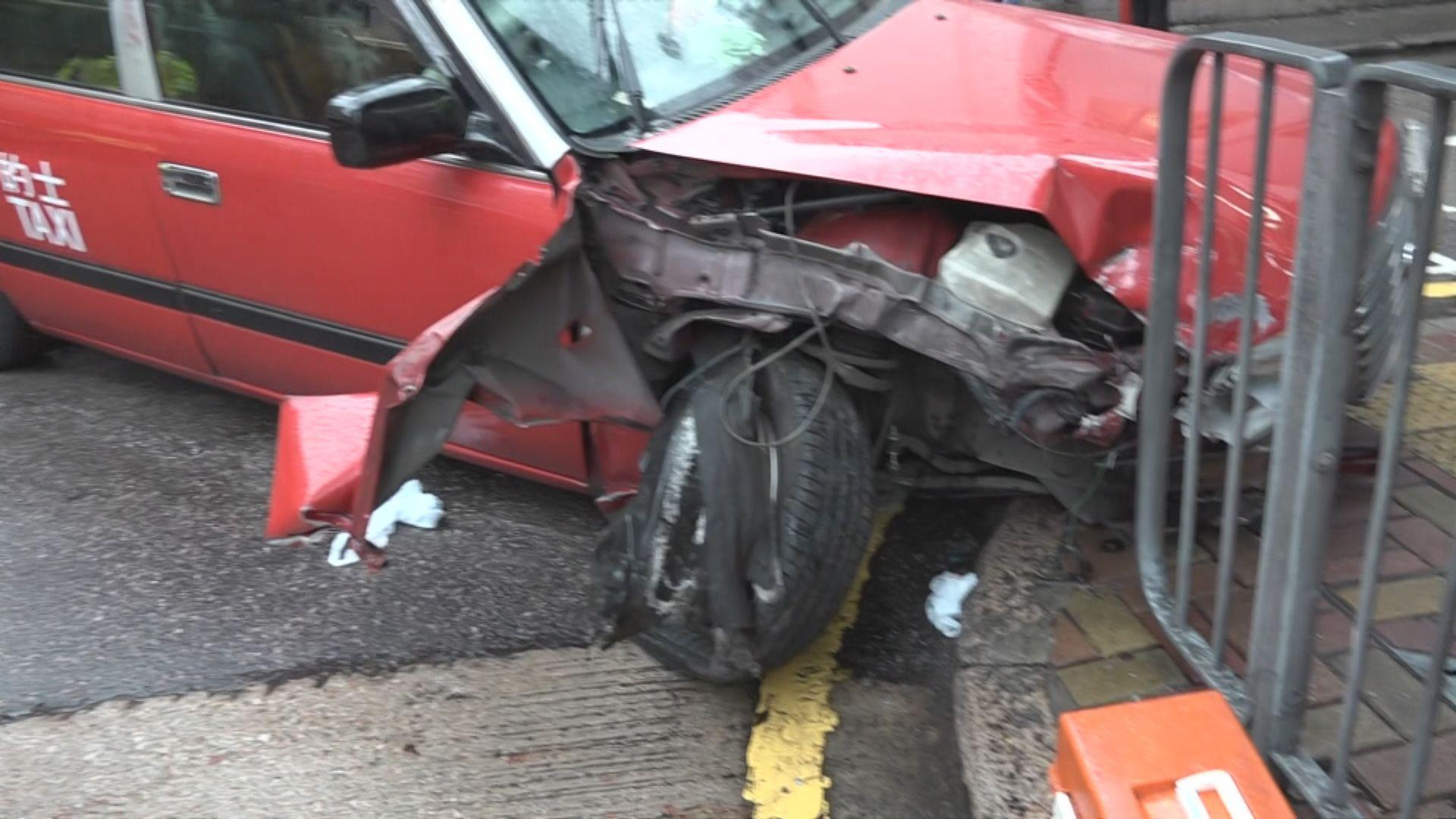 的士疑剎車系統失靈剷上行人過路處釀十傷