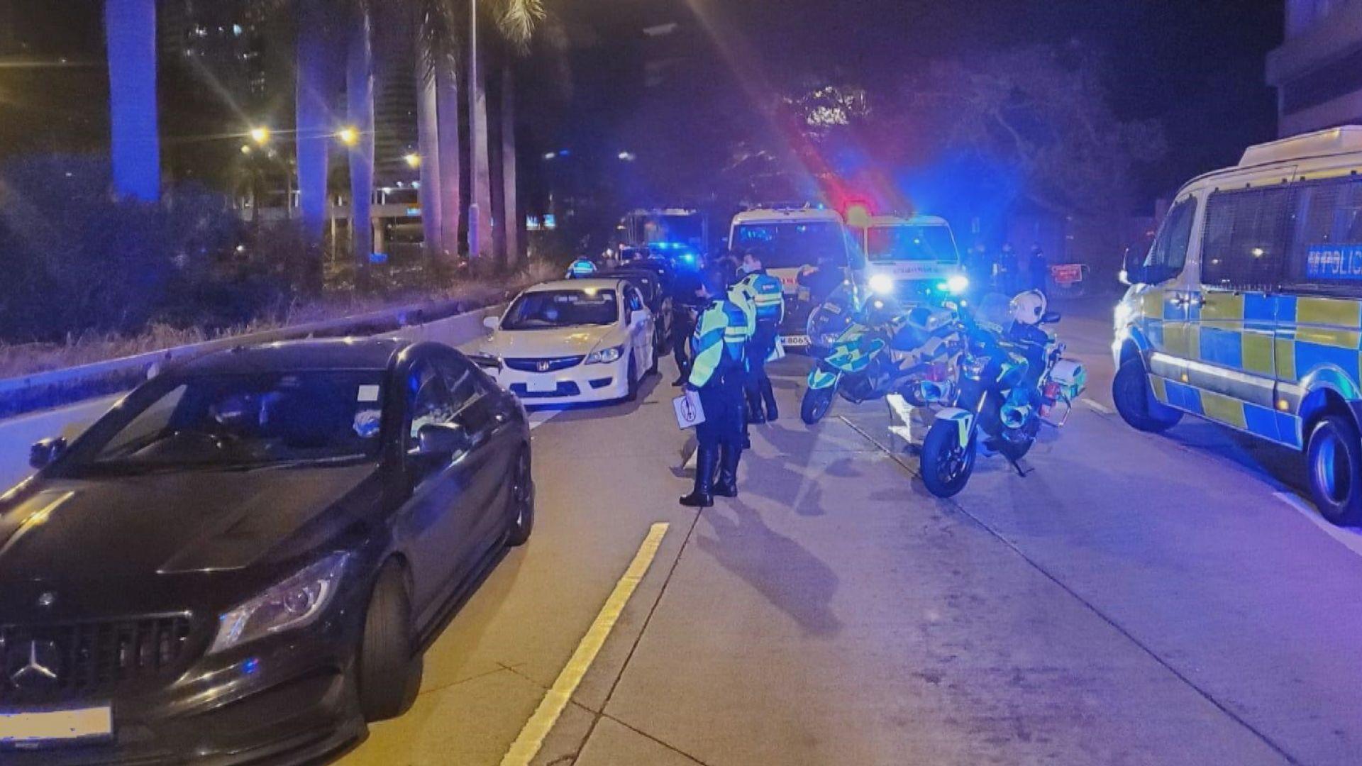 警方拘十七人涉非法賽車 其中兩人涉危險駕駛