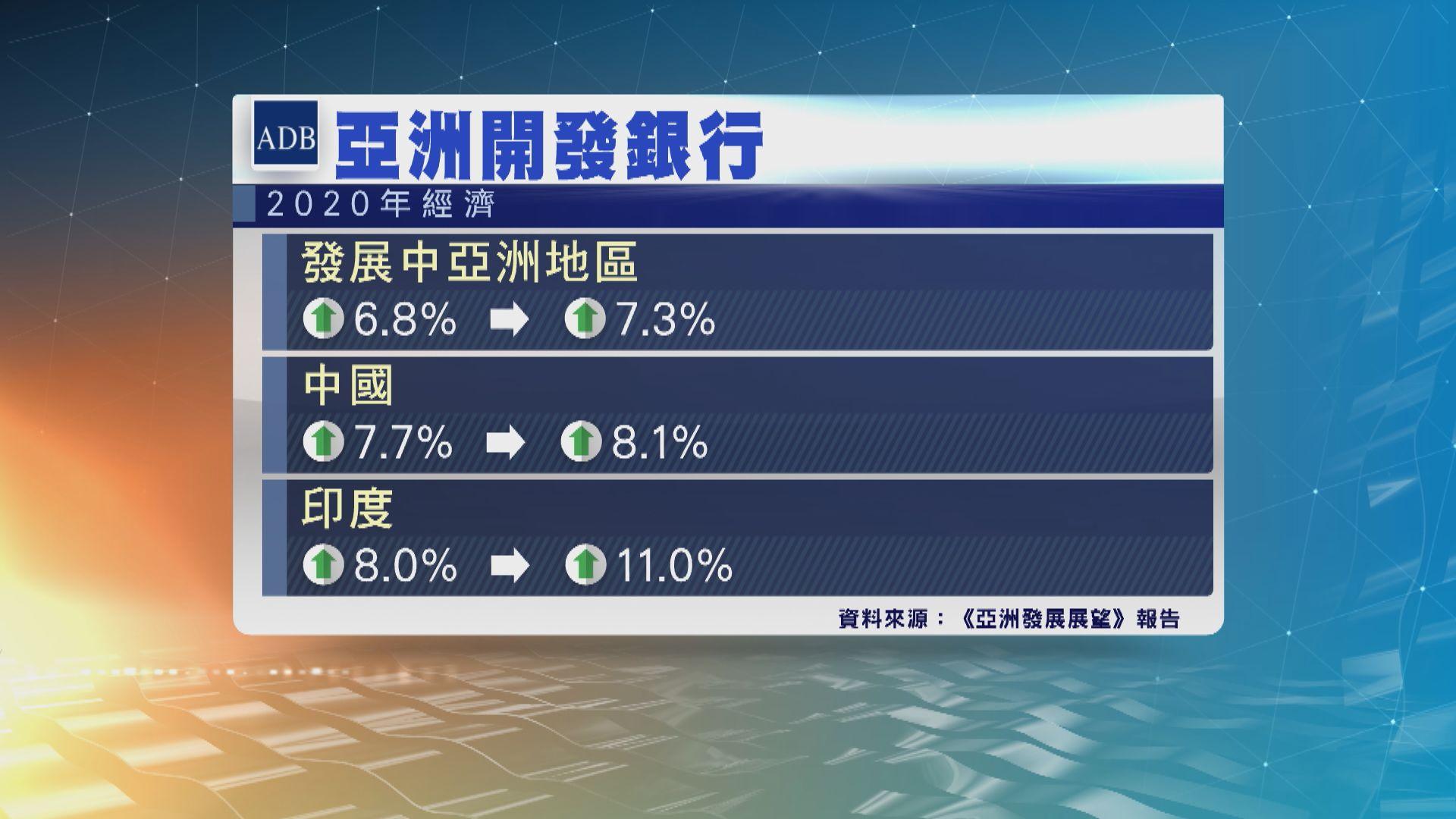 亞開行料發展中亞洲地區今年經濟增長7.3%