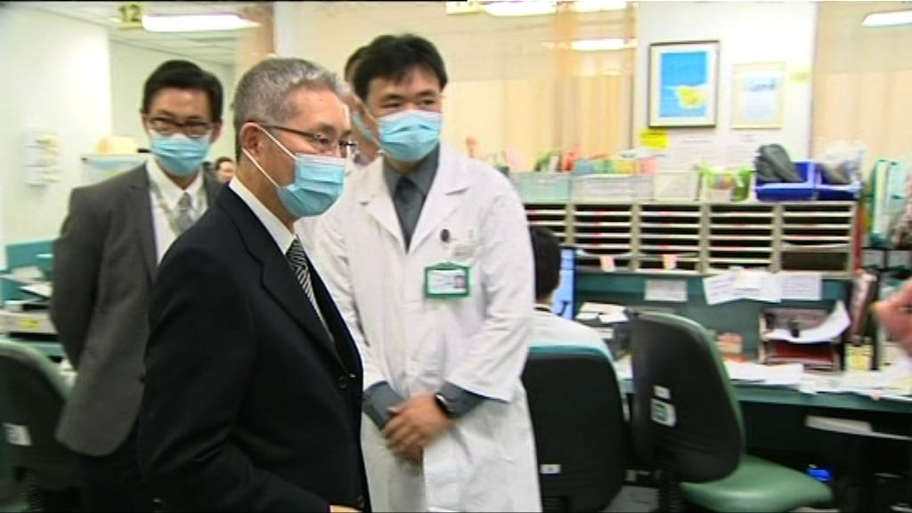 梁智仁巡視將軍澳醫院急症室