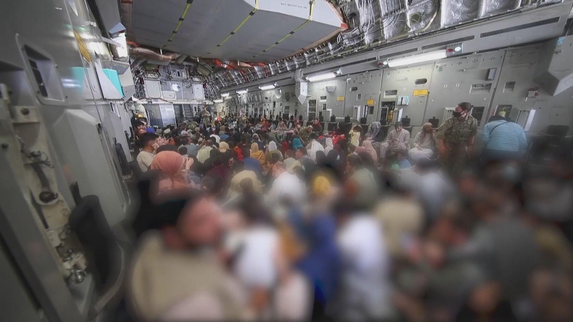 美軍十天內已由阿富汗撤走四萬八千人