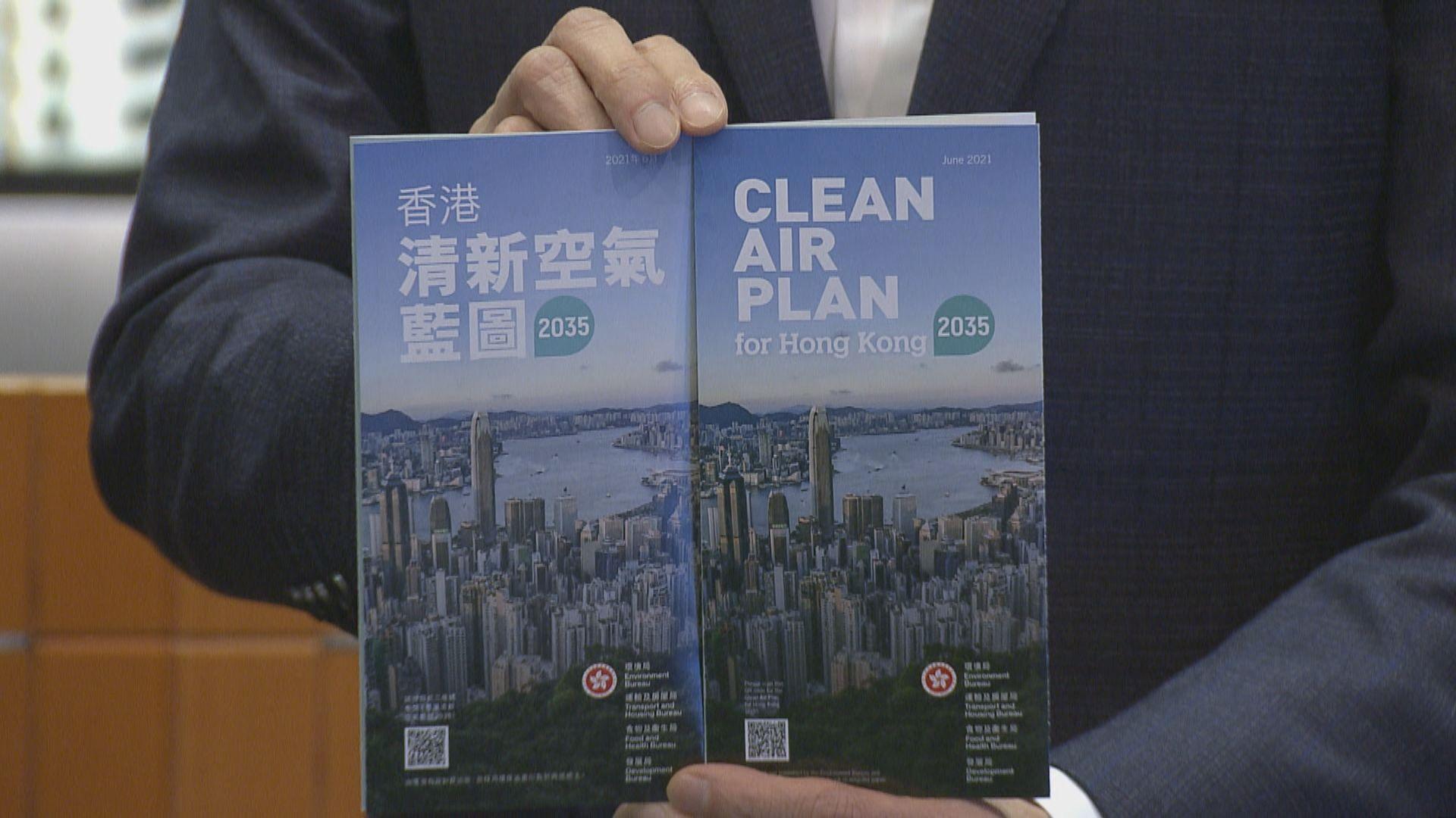 香港清新空氣藍圖2035 長遠冀全部符世衛指標