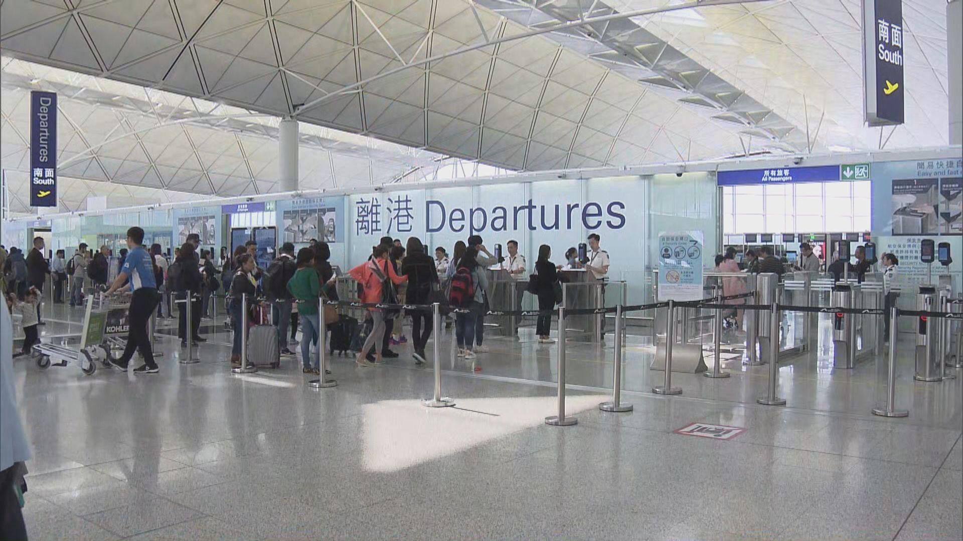 機場二月客運量按年大幅下跌六成八