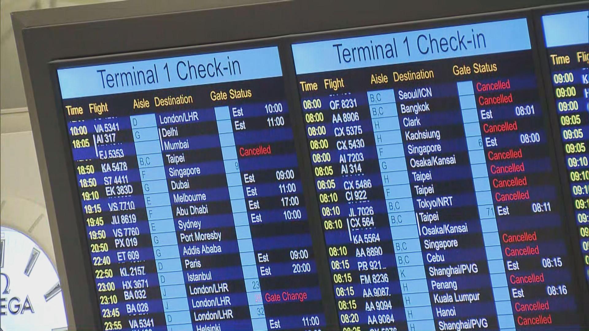 機管局早上六時起重新編配航班
