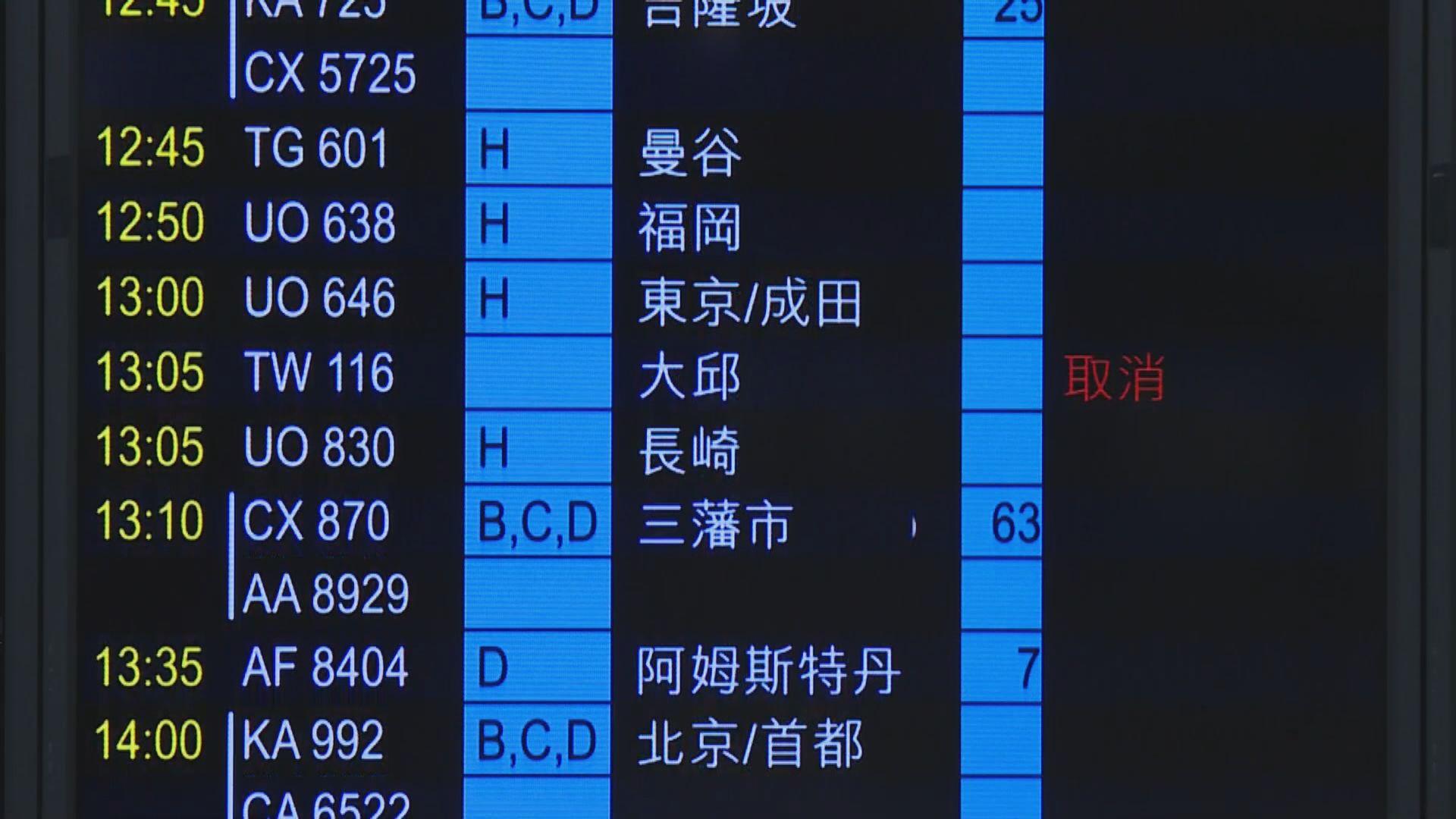 港實施新檢疫措施 大部分南韓來港航班取消