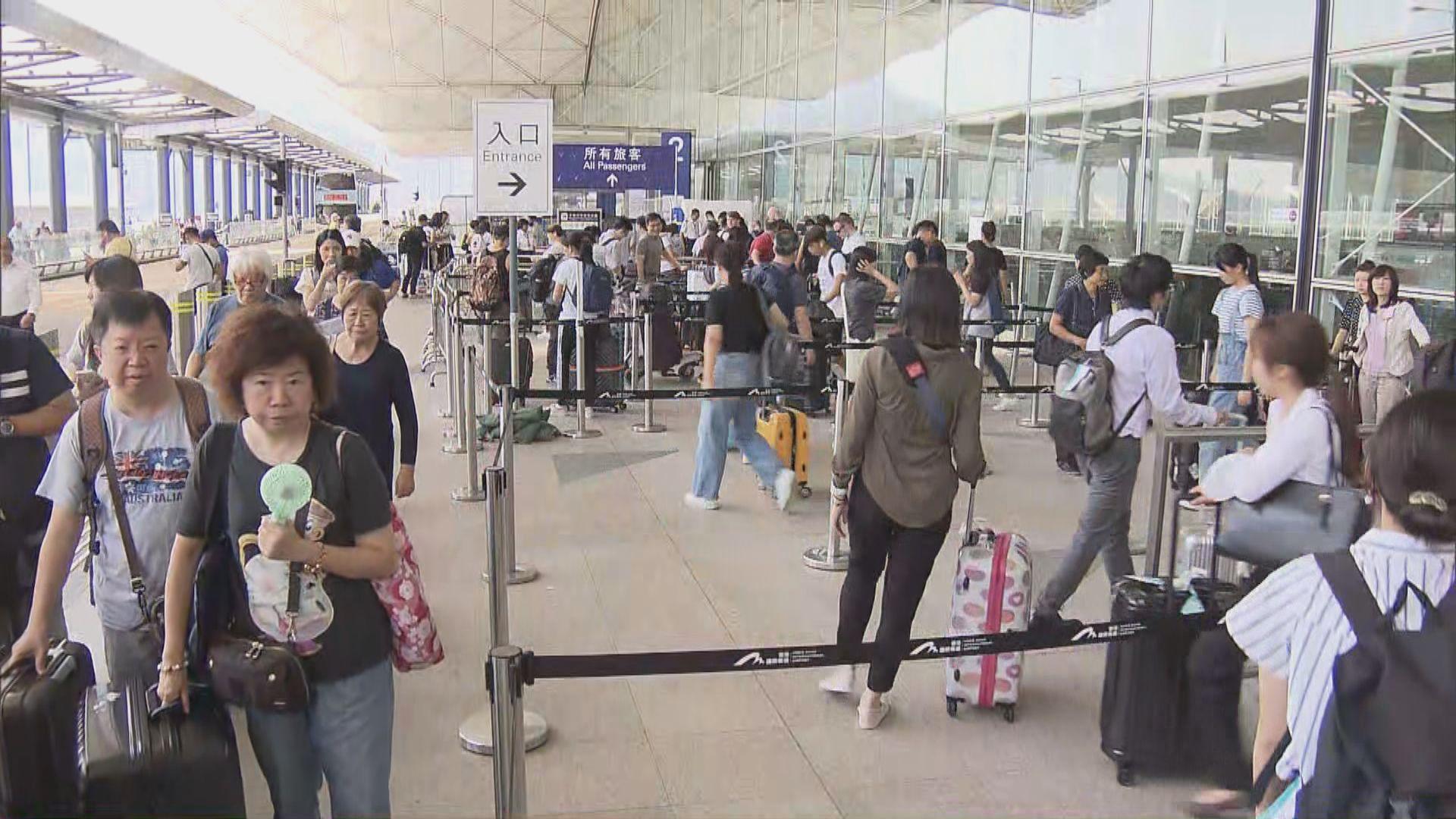 旅客憂機場交通癱瘓提早出門