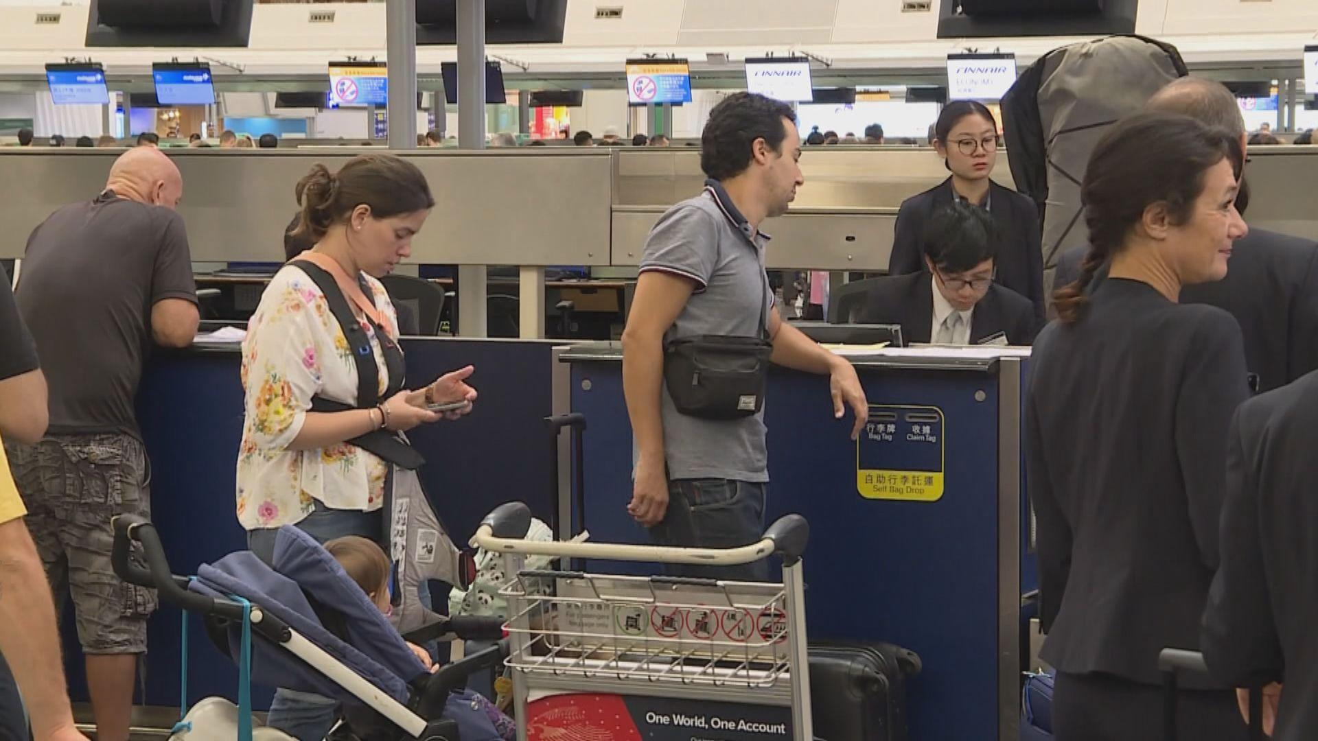 機場服務逐步回復正常