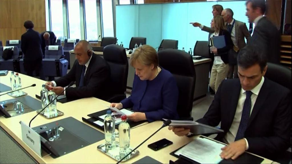 德總理承認歐盟無法就難民問題達共識
