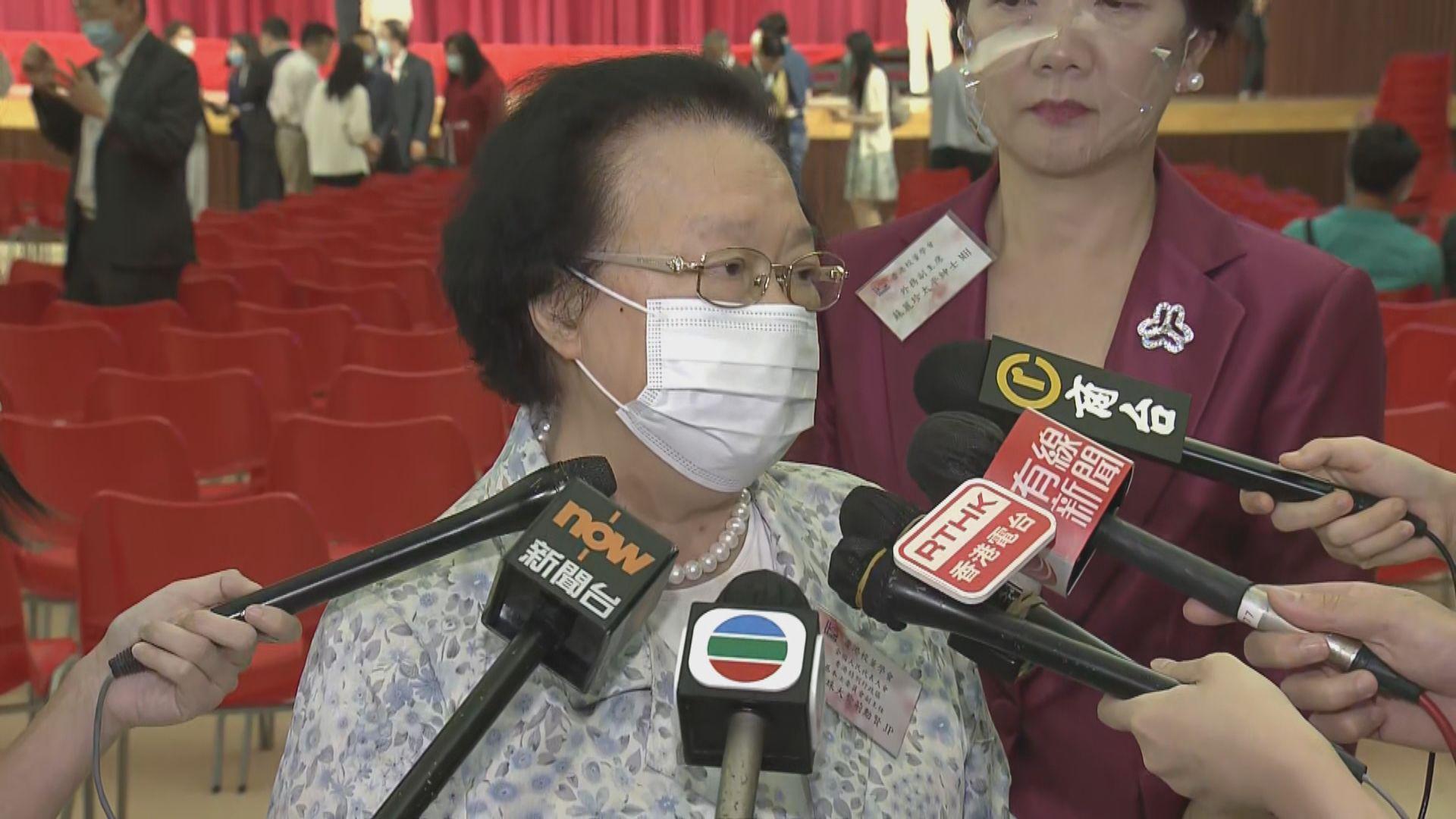 支聯會未收回結束一黨專政綱領 譚惠珠:是否違法視乎證據