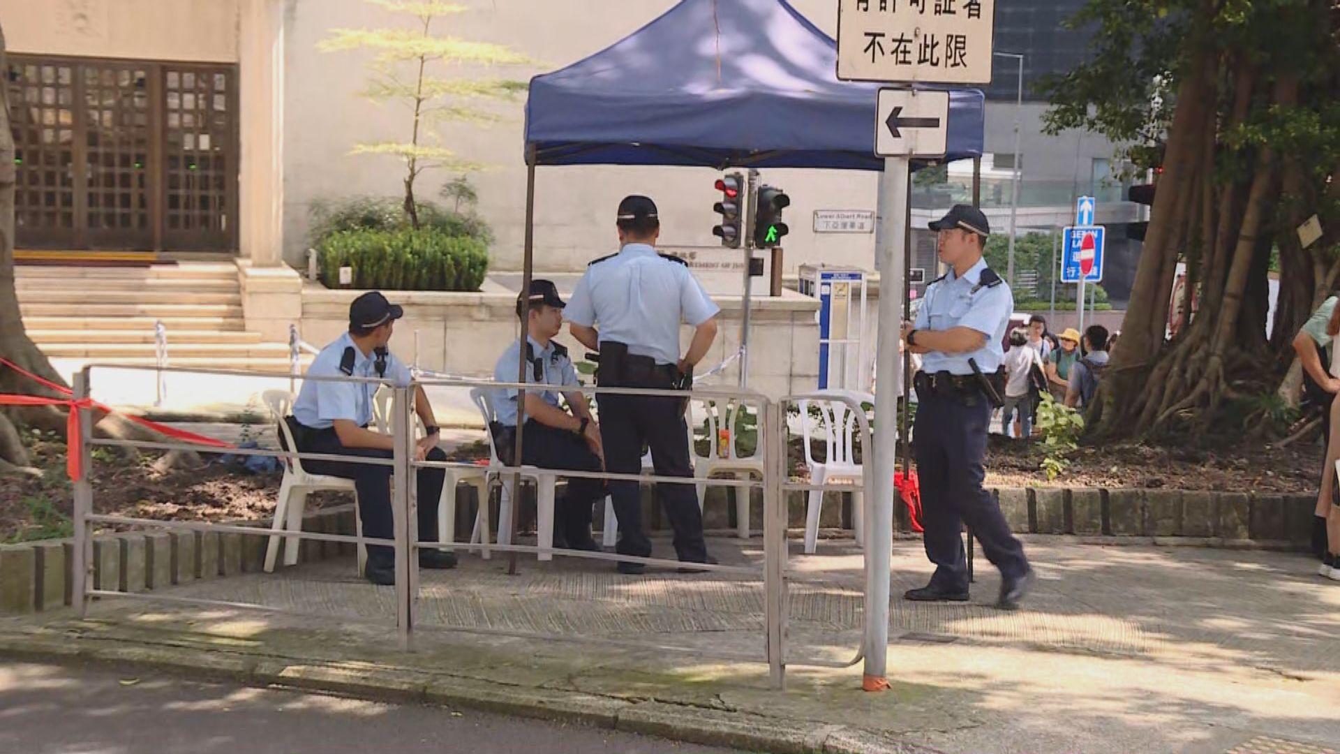 網民發起遊行至美領館 警方戒備
