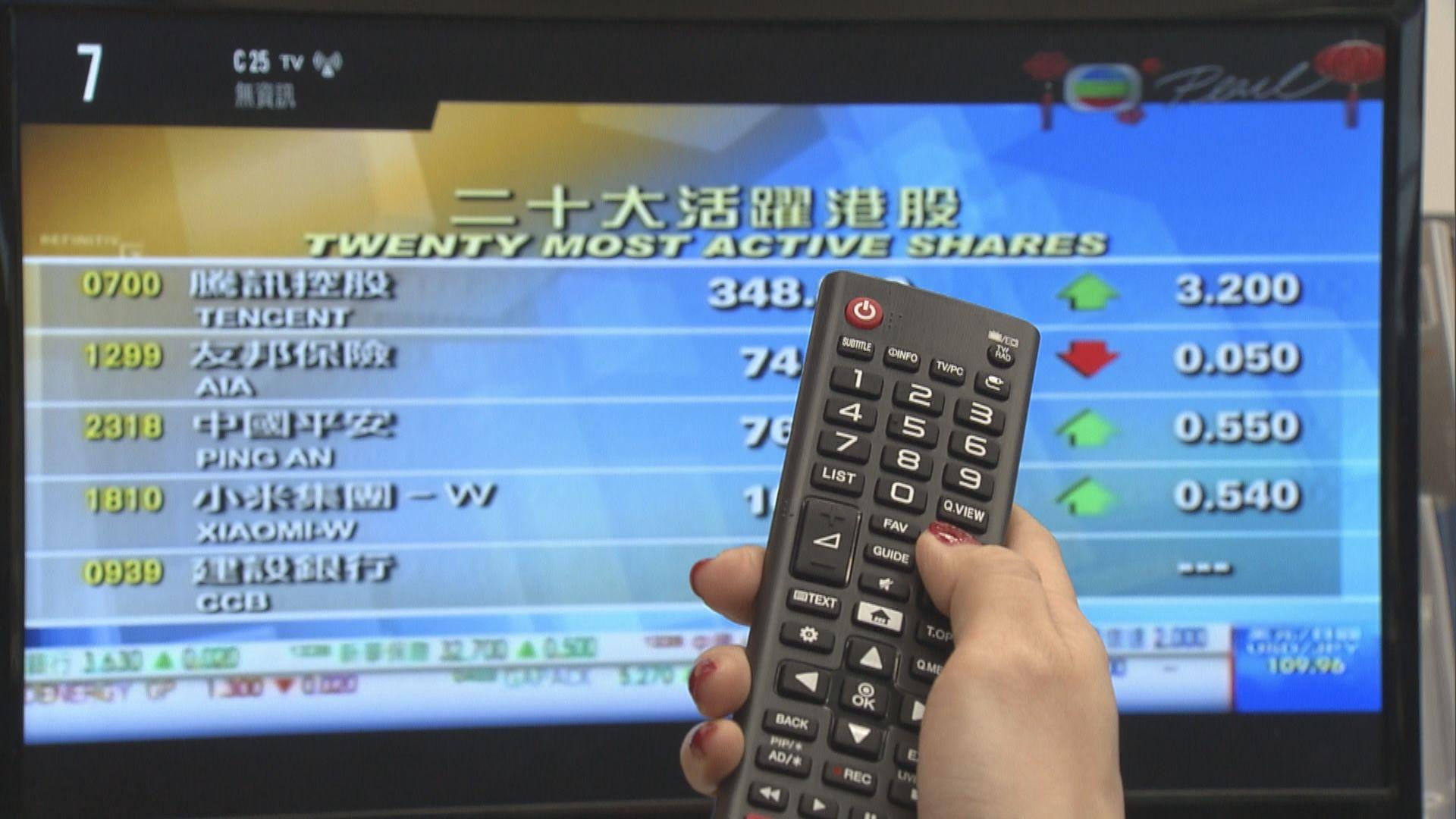 政府宣布明年12月1日起終止模擬電視廣播