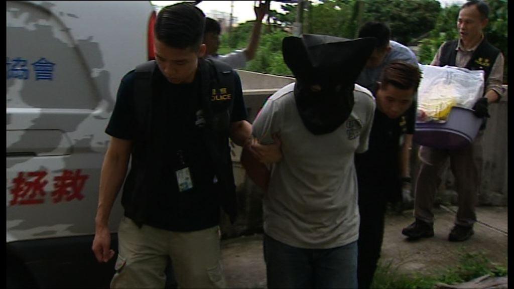 警拘一男子疑涉虐待動物