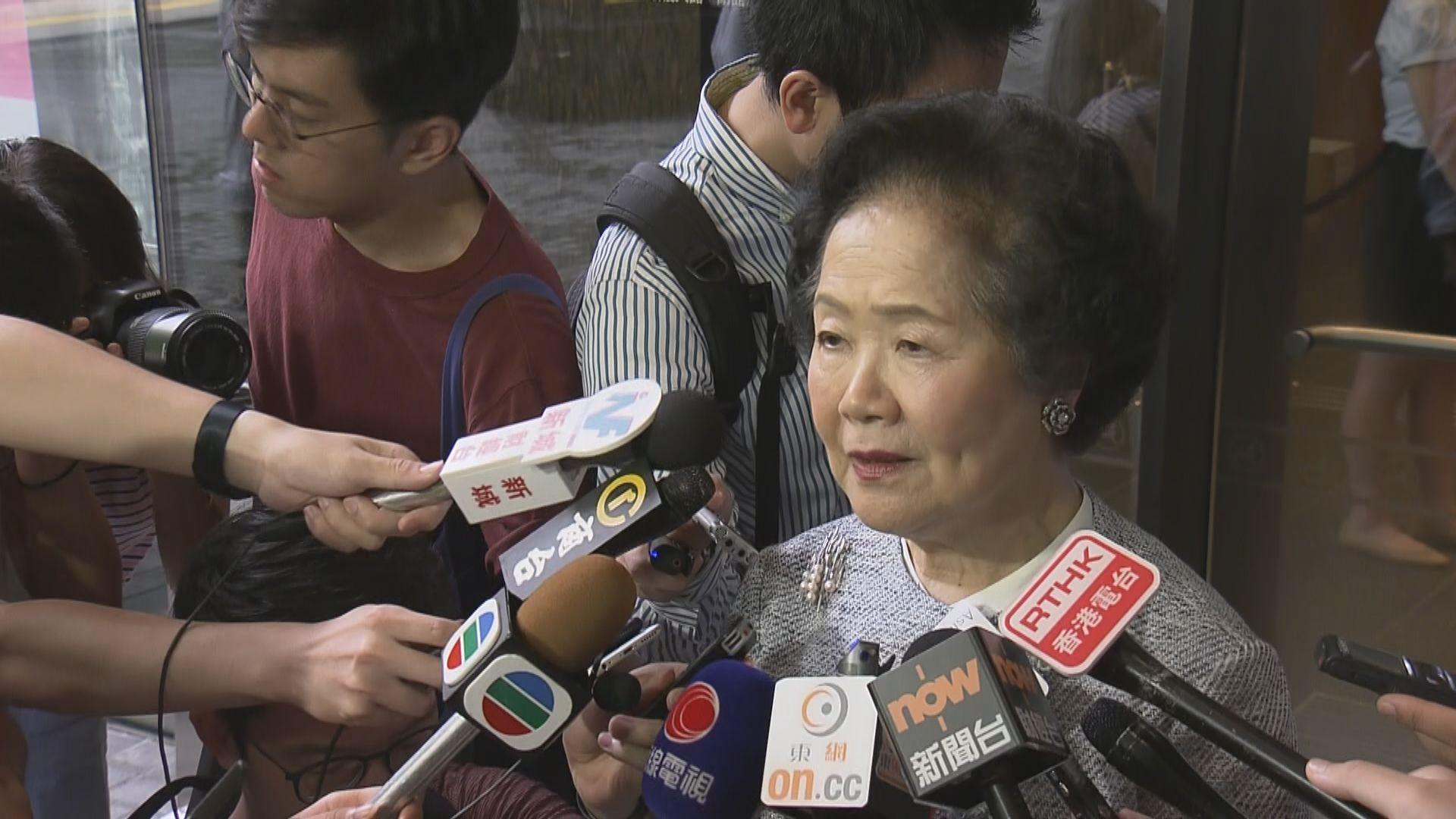 陳方安生:政府沒回應訴求致示威者訴諸暴力