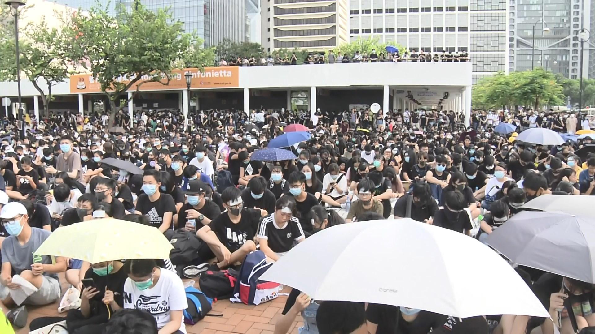 中學生舉行反修例集會 擬開學日響應罷課