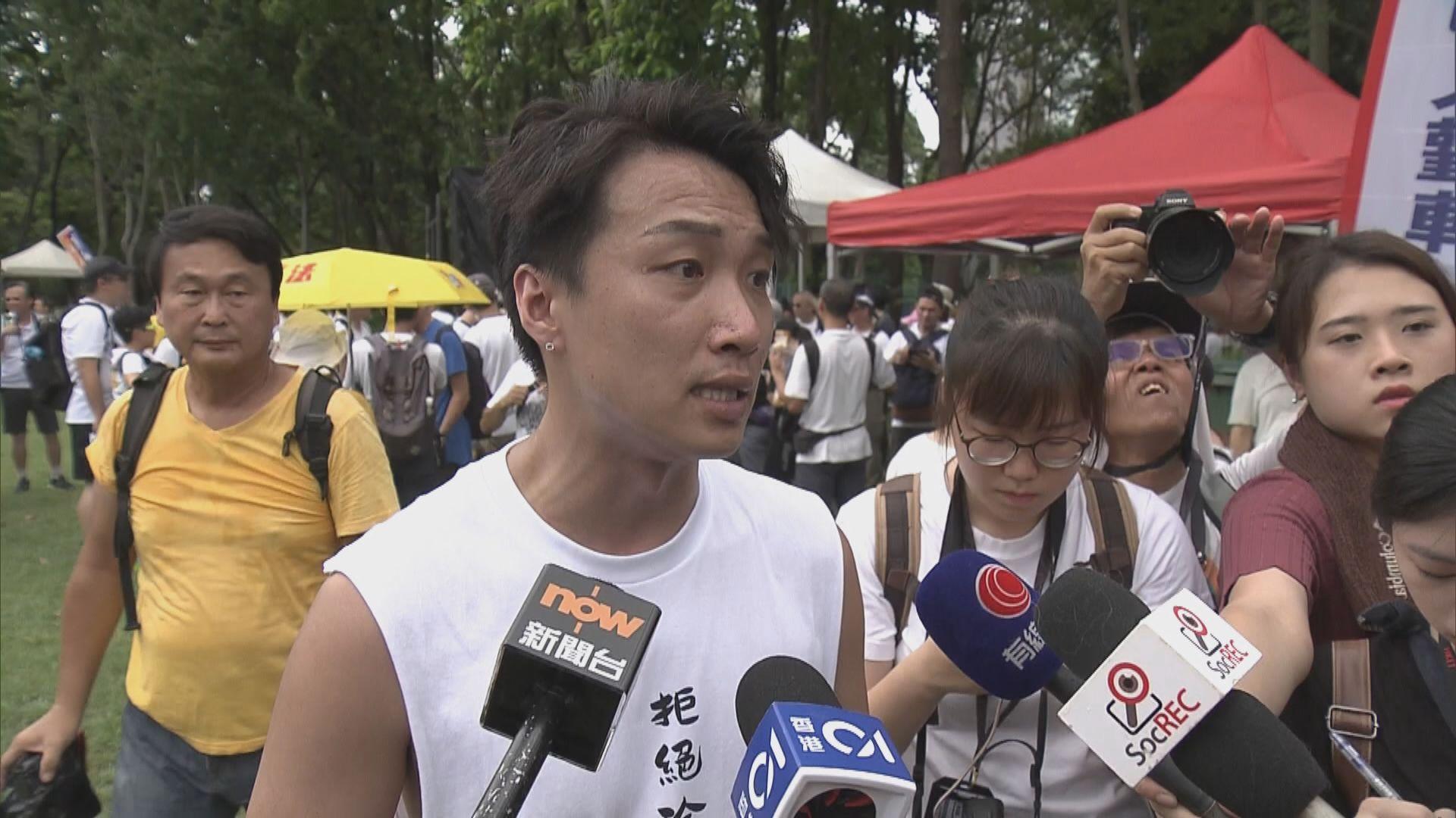 民陣不滿警方拒開石地足球場讓市民集合