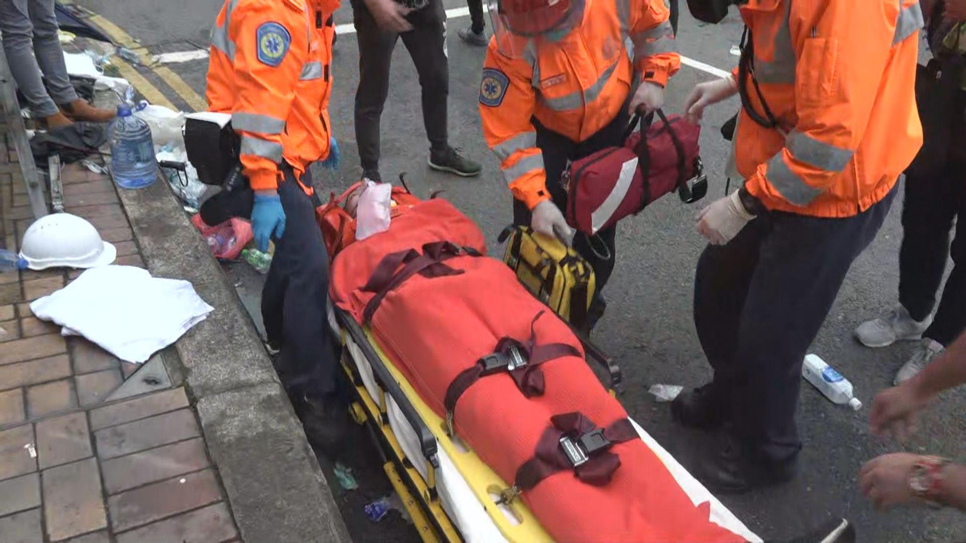 衝突中最少廿二人受傷送院