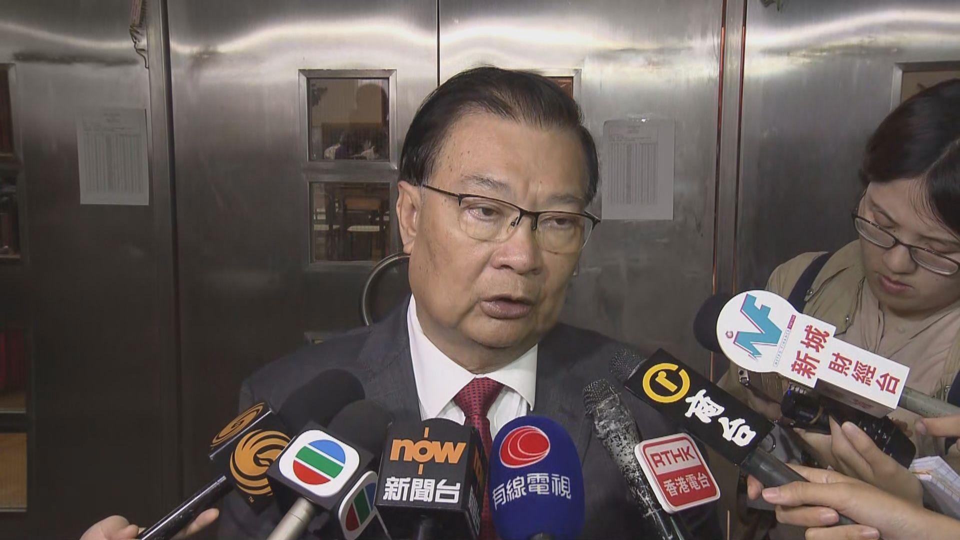 譚耀宗:中央政府依舊支持行政長官