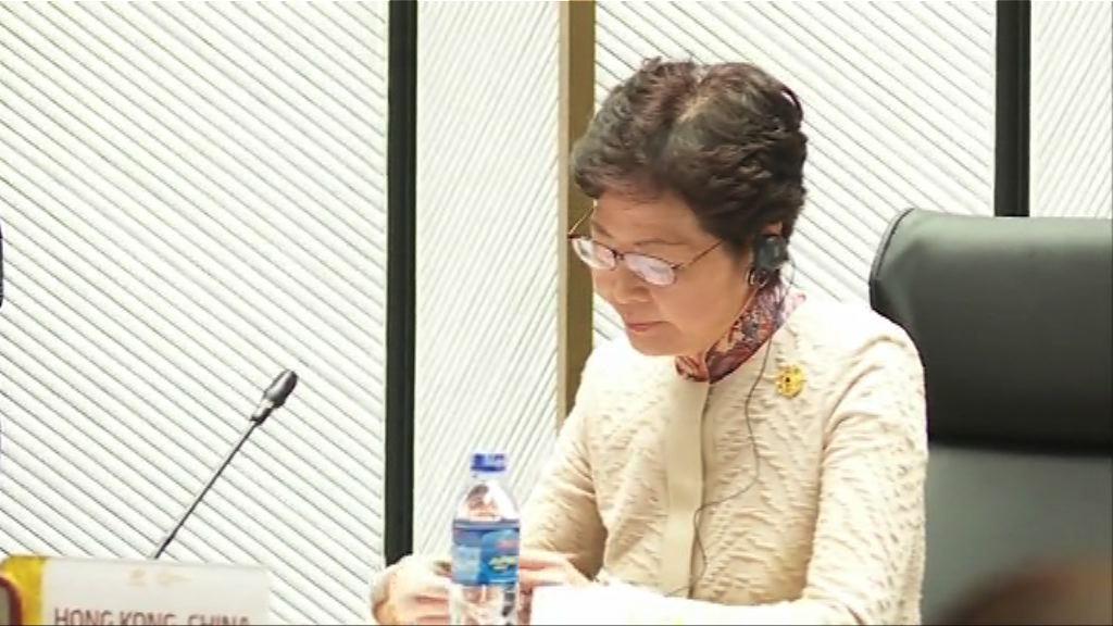 林鄭:通過致謝動議非行政立法關係轉捩點