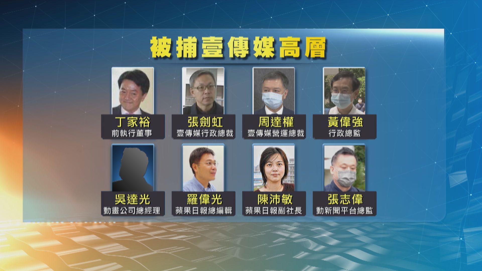 警方一年內先後拘捕8名壹傳媒現任及前高層