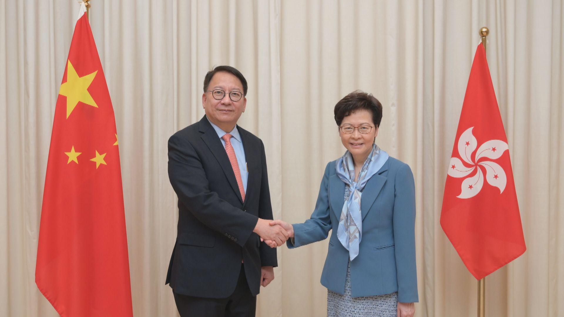 林鄭:深信陳國基有能力兼任港區國安委秘書長