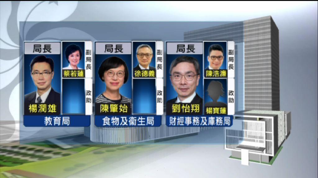 副局及政助名單公布 蔡若蓮任副教育局長