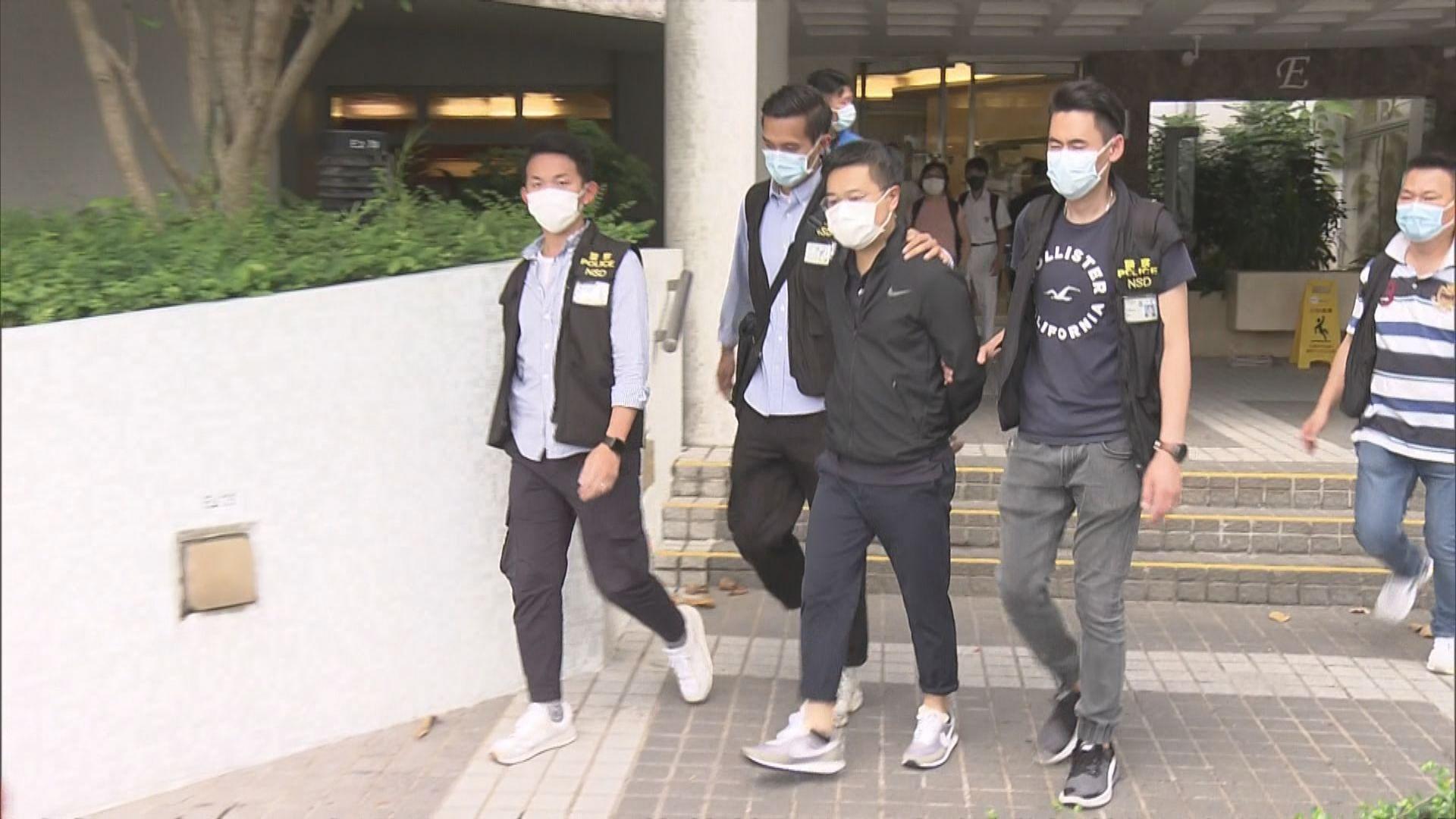 警方執行《國安法》手令搜查壹傳媒大樓 壹傳媒五高層被捕