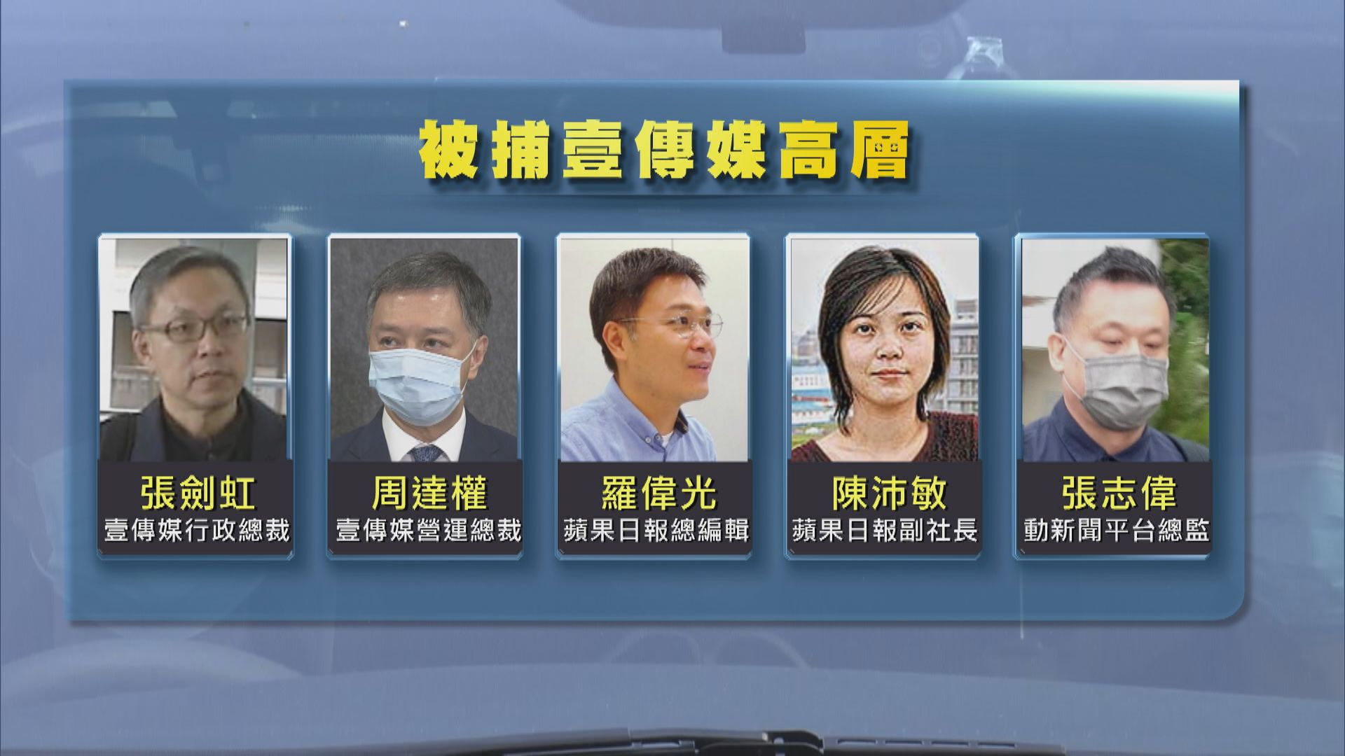 警方:蘋果日報發布數十篇文章要求制裁香港及中國 被捕五人責無旁貸