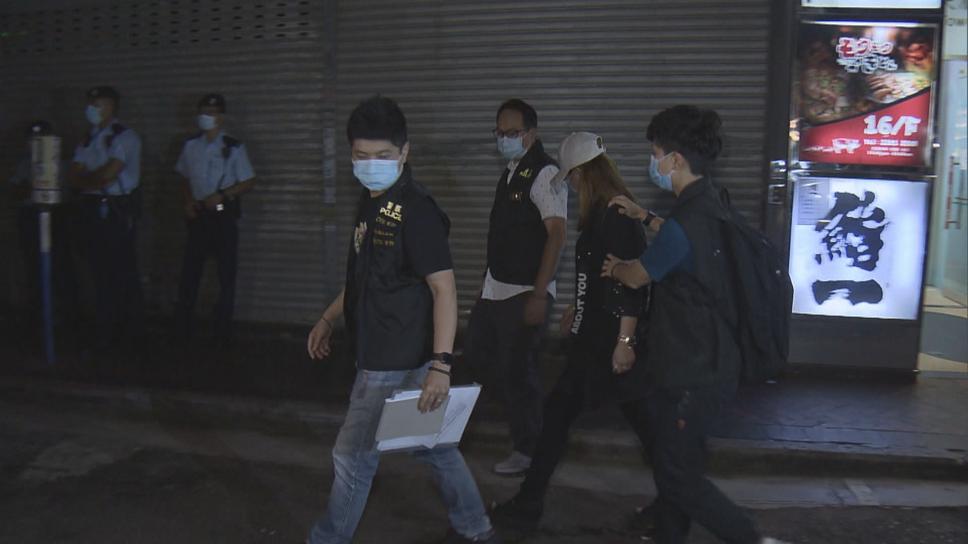 警方屯門及尖沙咀反罪惡行動拘四十六男女